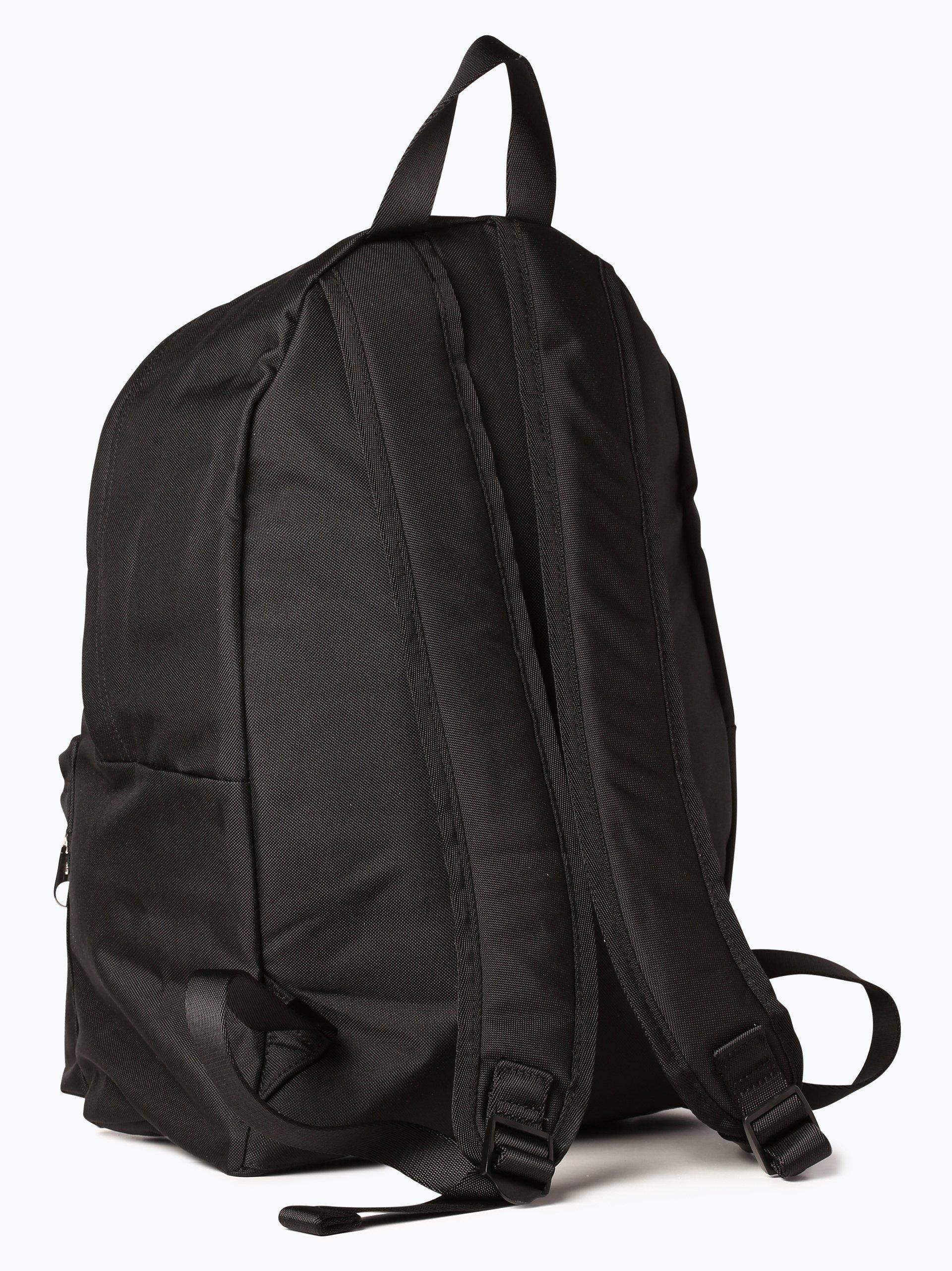 calvin klein jeans herren rucksack mit leder anteil schwarz uni online kaufen peek und. Black Bedroom Furniture Sets. Home Design Ideas