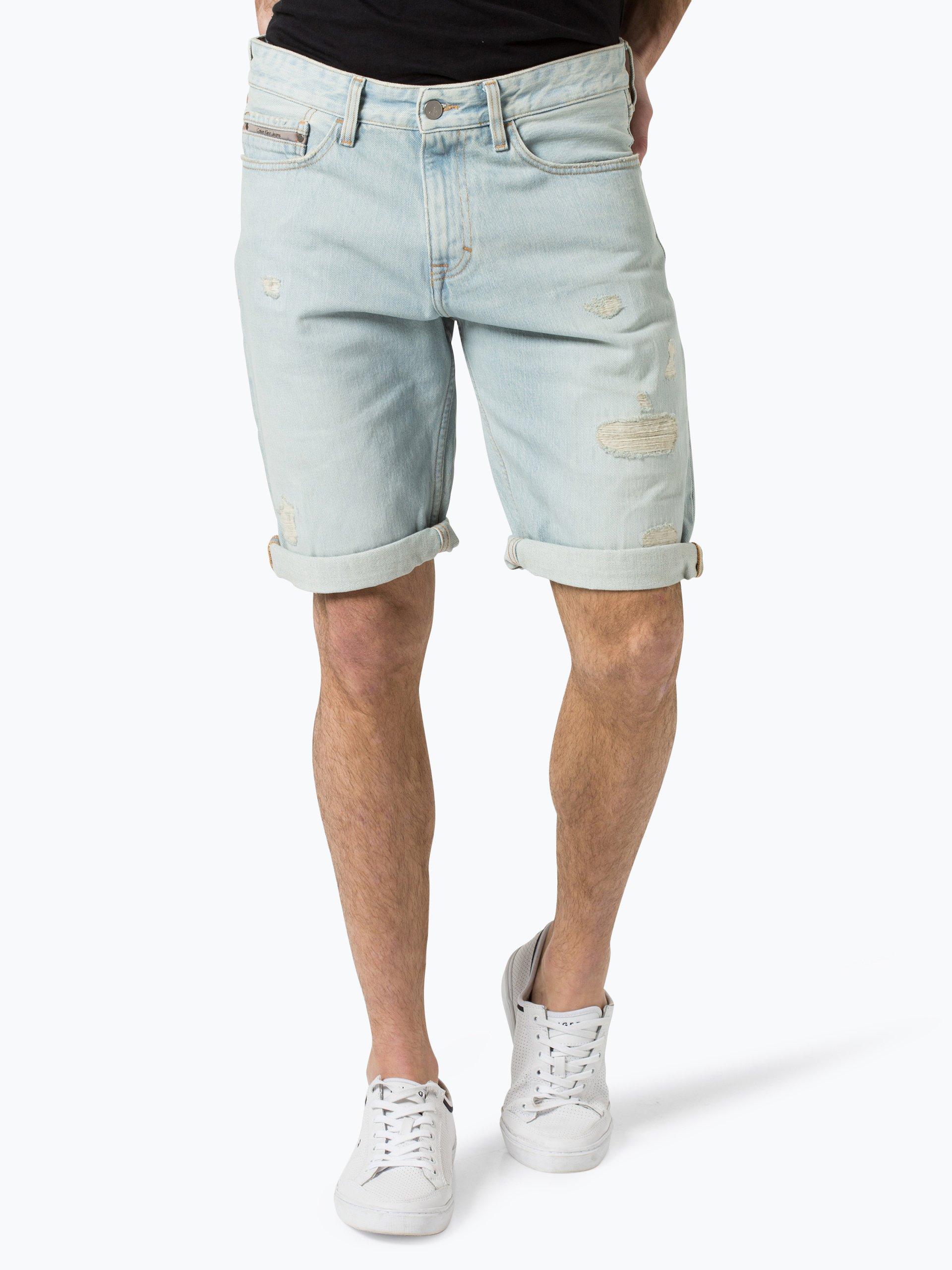 calvin klein jeans herren shorts blau uni online kaufen. Black Bedroom Furniture Sets. Home Design Ideas