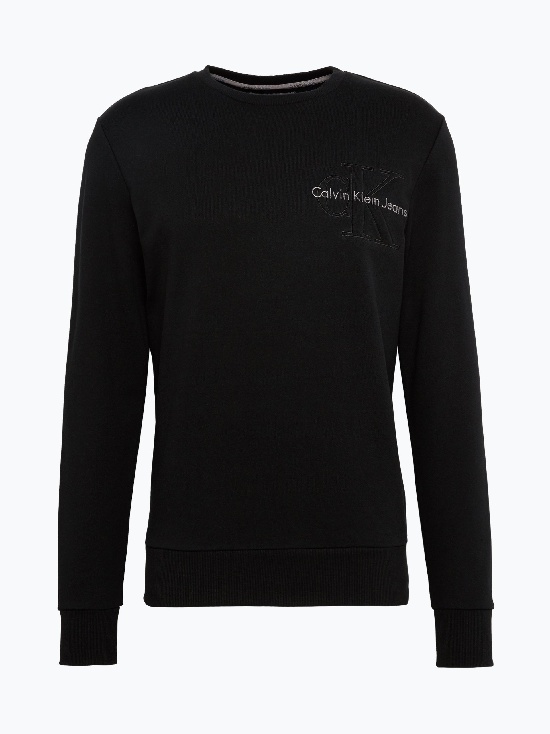 calvin klein jeans herren sweatshirt schwarz uni online. Black Bedroom Furniture Sets. Home Design Ideas