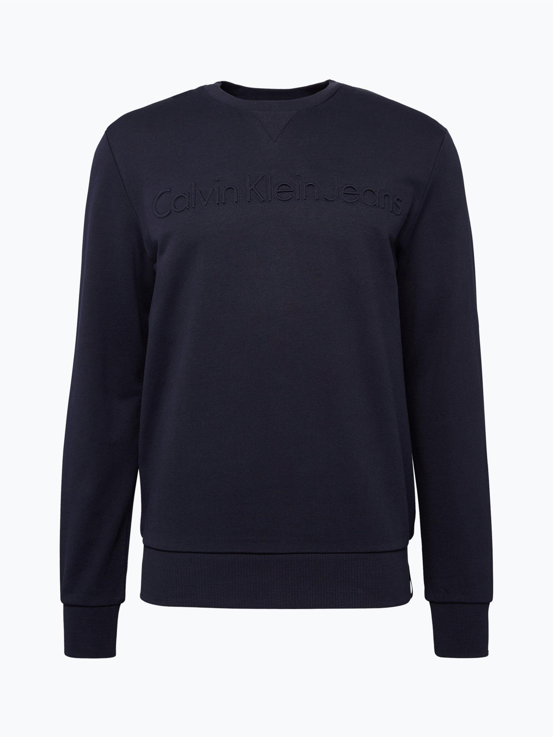 calvin klein jeans herren sweatshirt blau uni online kaufen peek und cloppenburg de. Black Bedroom Furniture Sets. Home Design Ideas