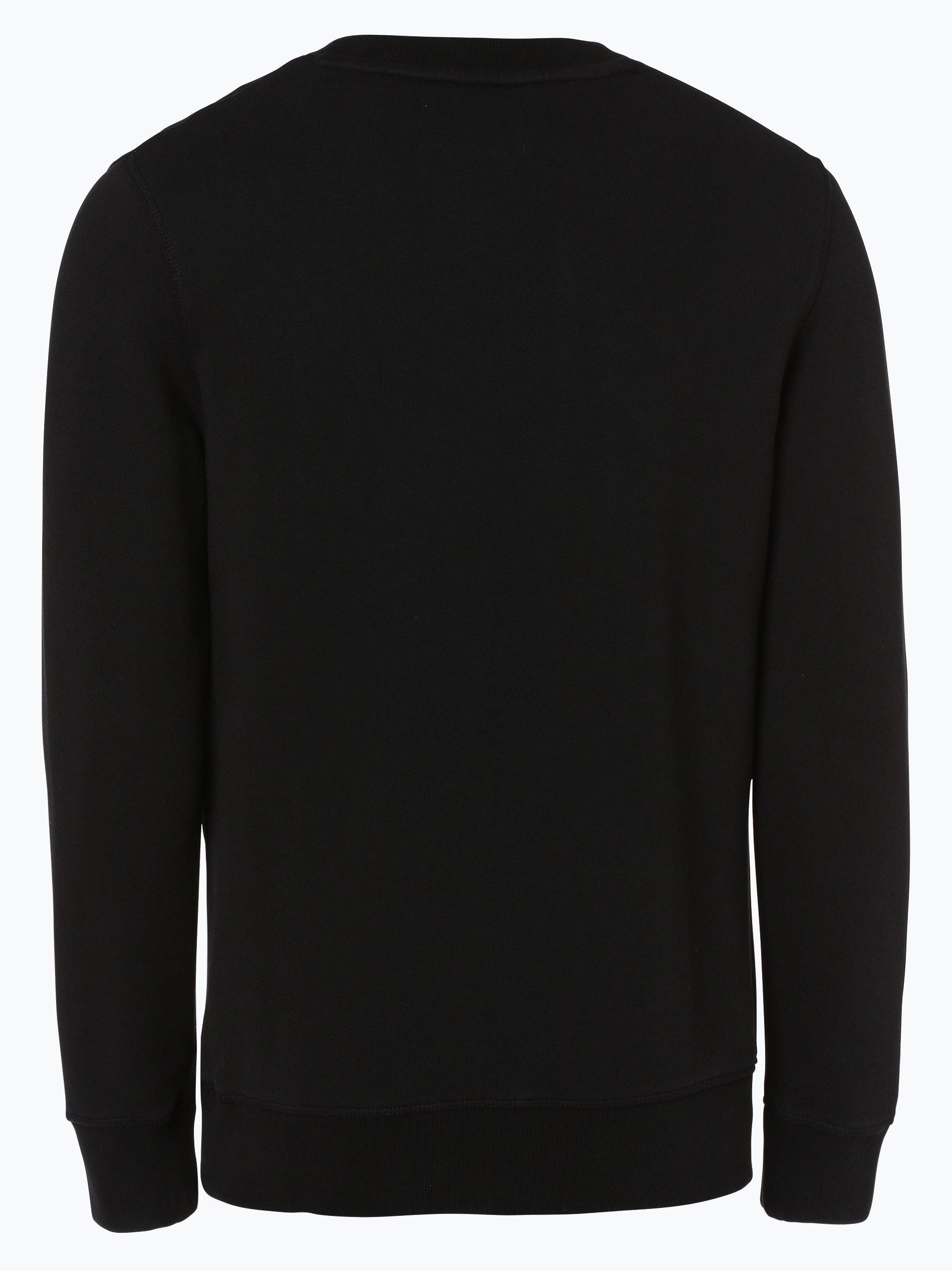 calvin klein jeans herren sweatshirt schwarz uni online kaufen vangraaf com. Black Bedroom Furniture Sets. Home Design Ideas
