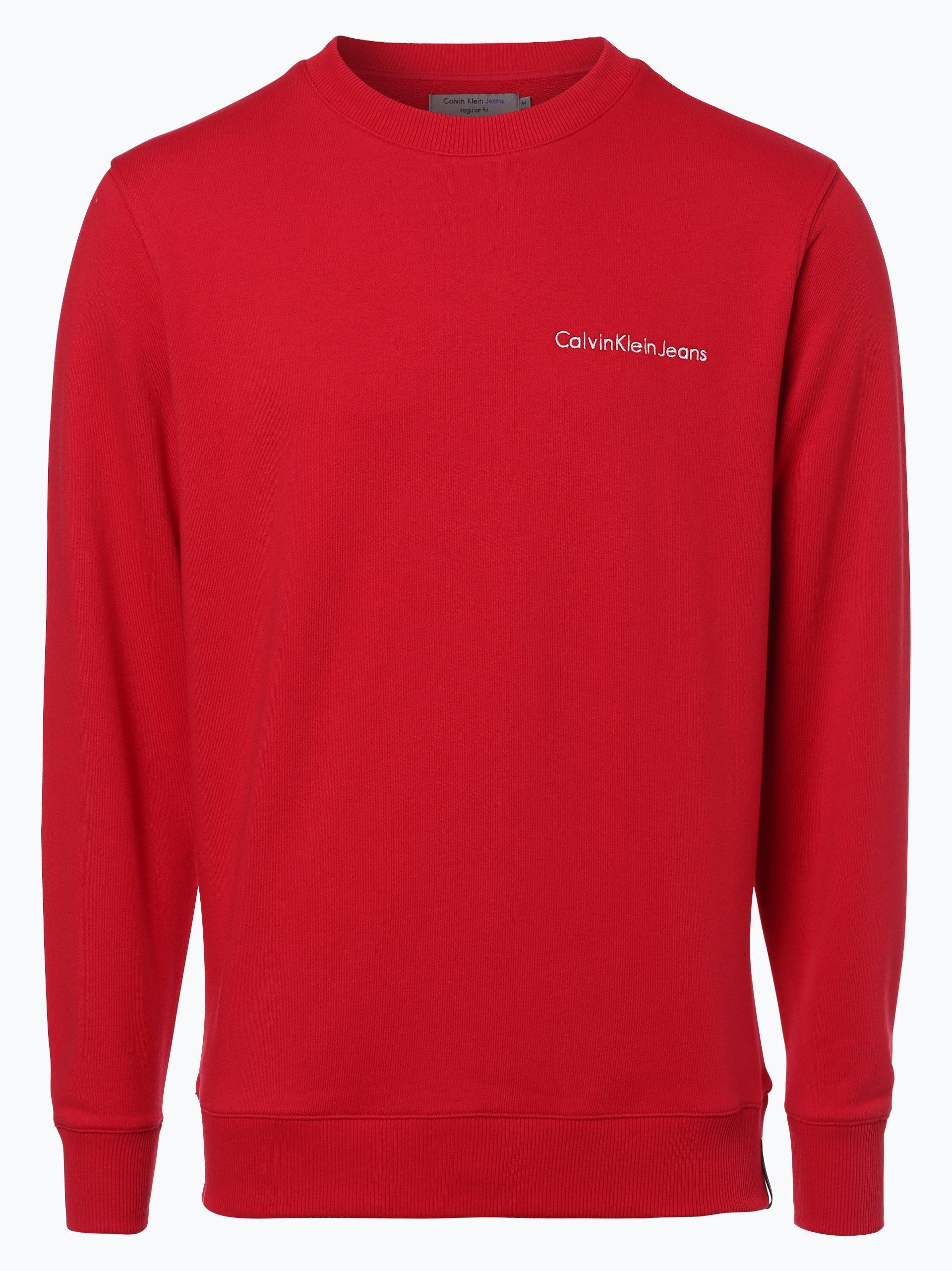 calvin klein jeans herren sweatshirt rot uni online kaufen peek und cloppenburg de. Black Bedroom Furniture Sets. Home Design Ideas
