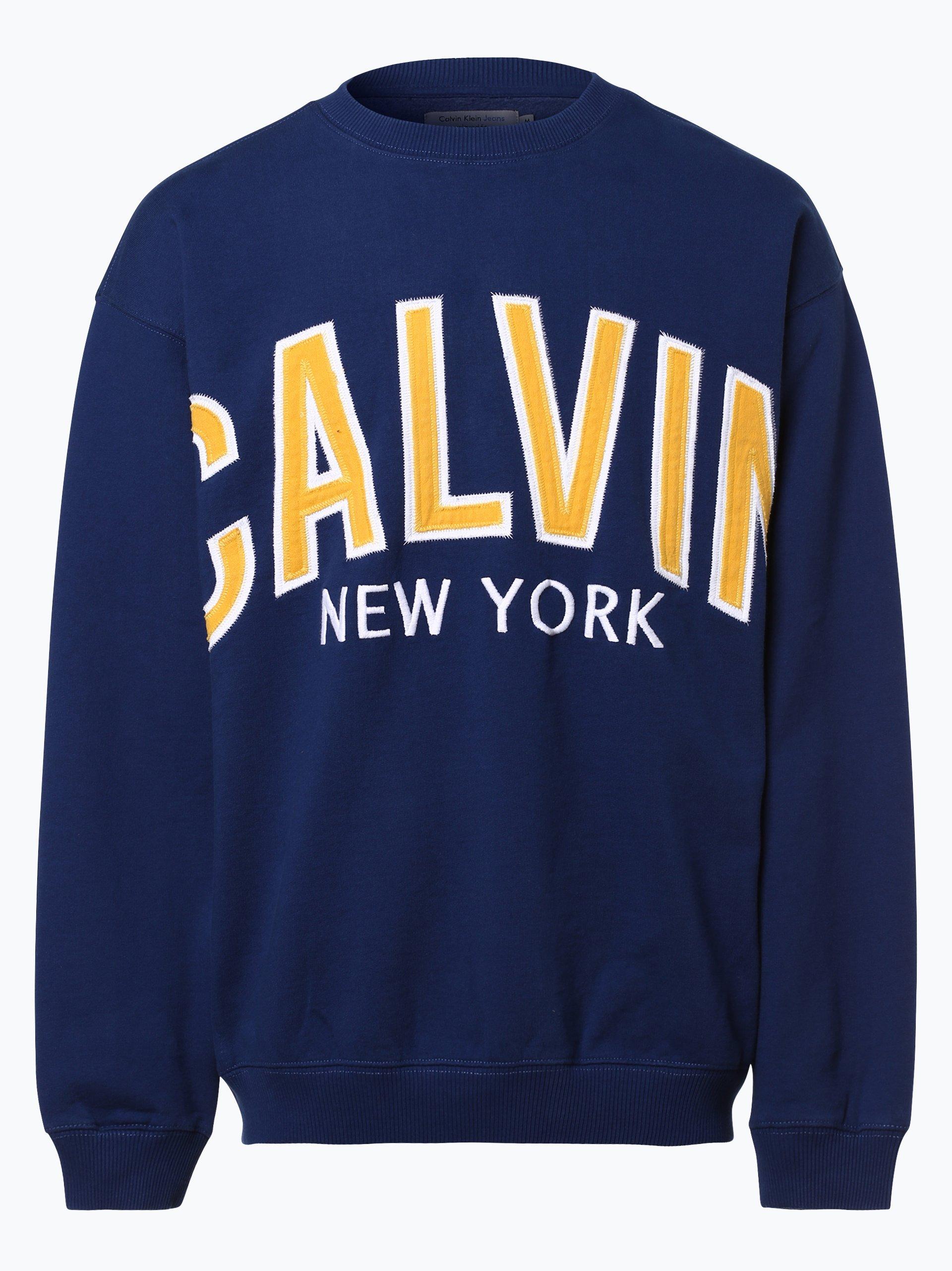 calvin klein jeans herren sweatshirt indigo bedruckt online kaufen peek und cloppenburg de. Black Bedroom Furniture Sets. Home Design Ideas