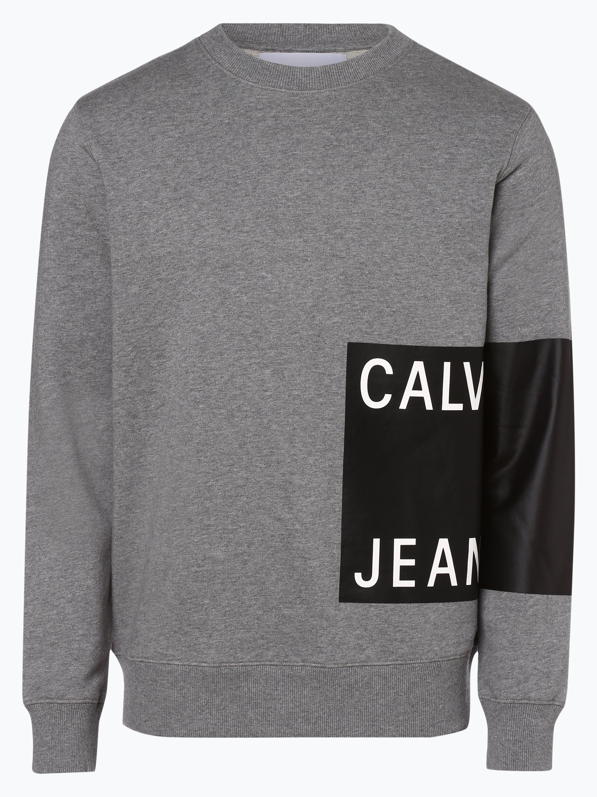 calvin klein jeans herren sweatshirt grau schwarz bedruckt online kaufen peek und cloppenburg de. Black Bedroom Furniture Sets. Home Design Ideas