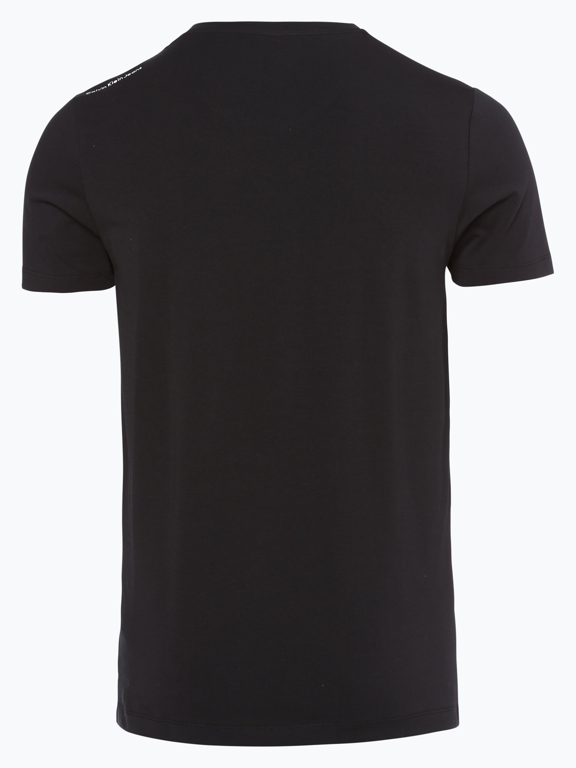 calvin klein jeans herren t shirt schwarz gemustert online. Black Bedroom Furniture Sets. Home Design Ideas