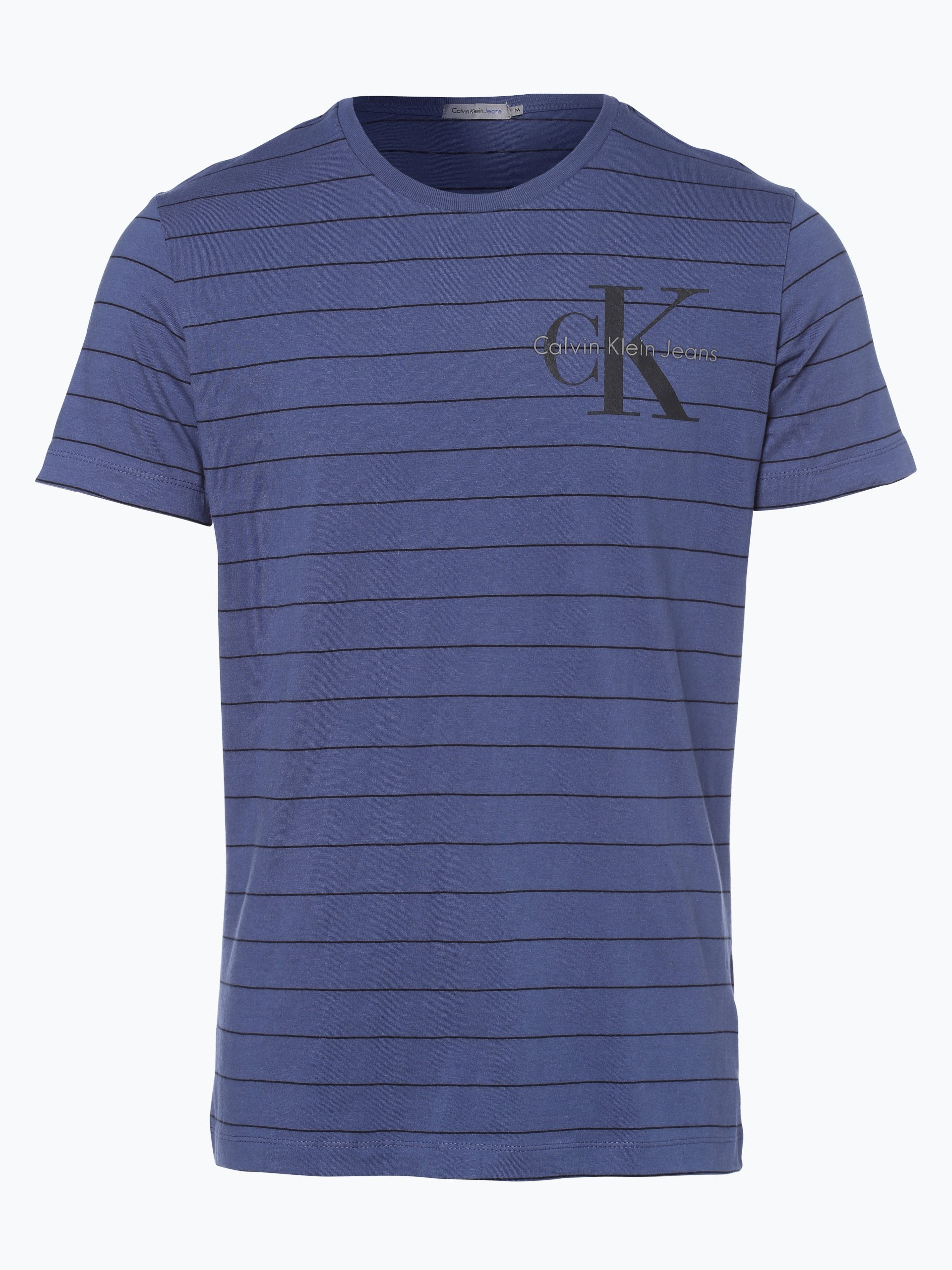 calvin klein jeans herren t shirt blau gemustert online. Black Bedroom Furniture Sets. Home Design Ideas