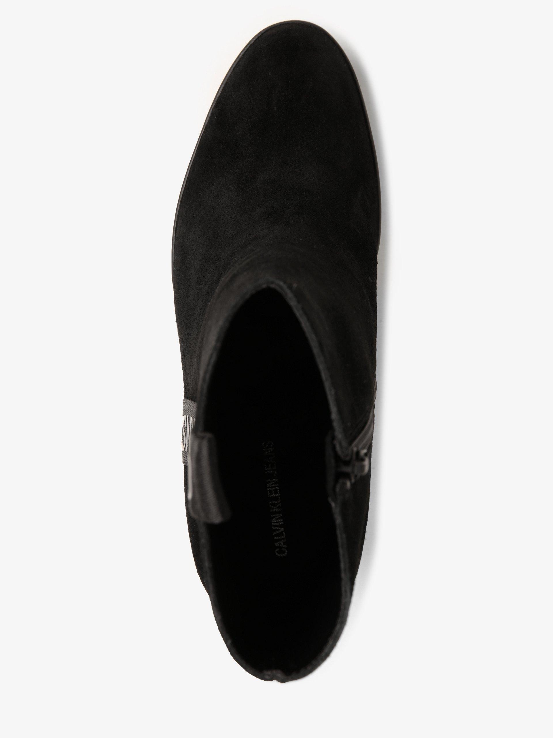 Calvin Klein Jeans Skórzane botki damskie ze skóry – Serina