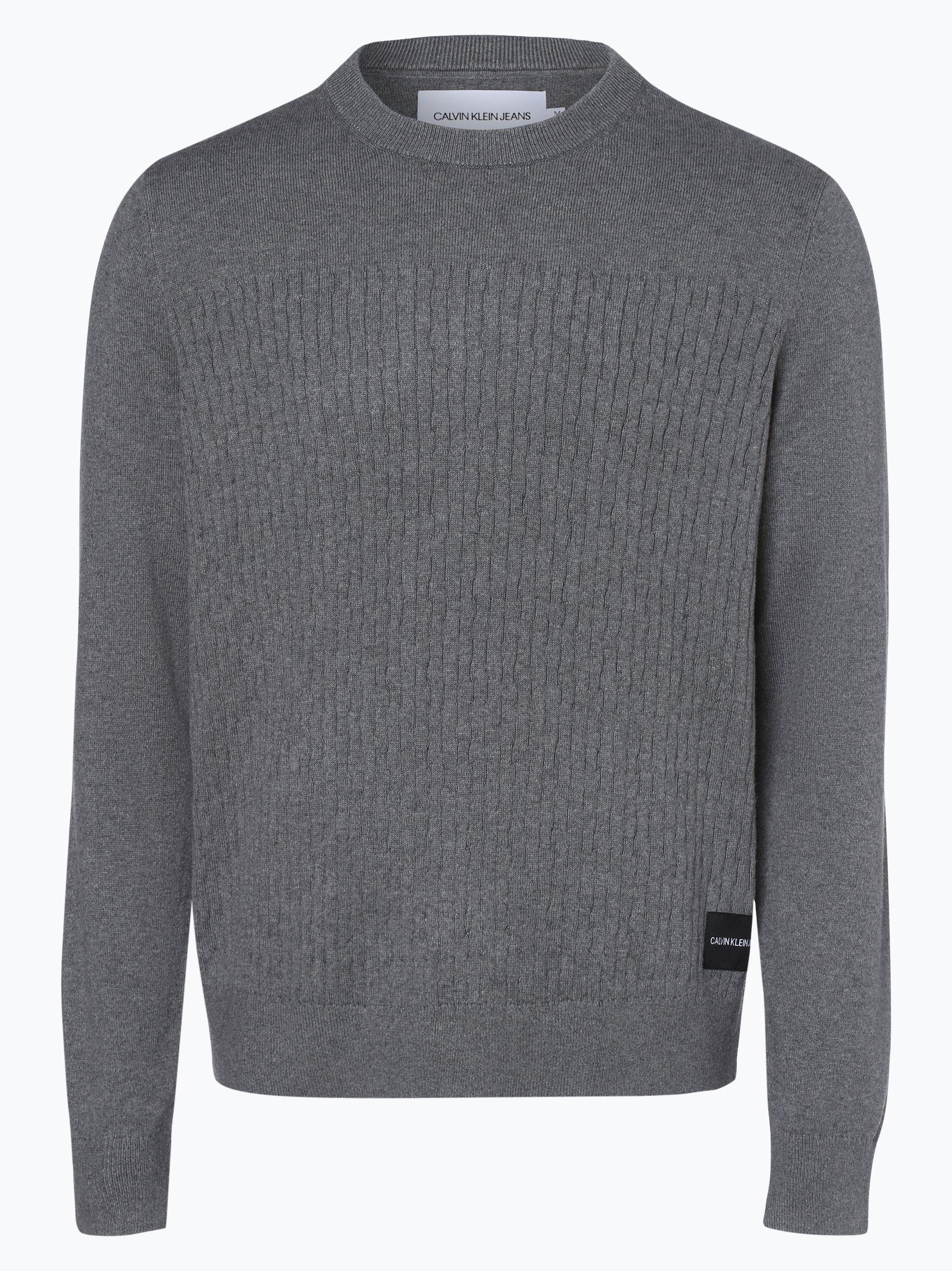 Calvin Klein Jeans Sweter męski z dodatkiem kaszmiru