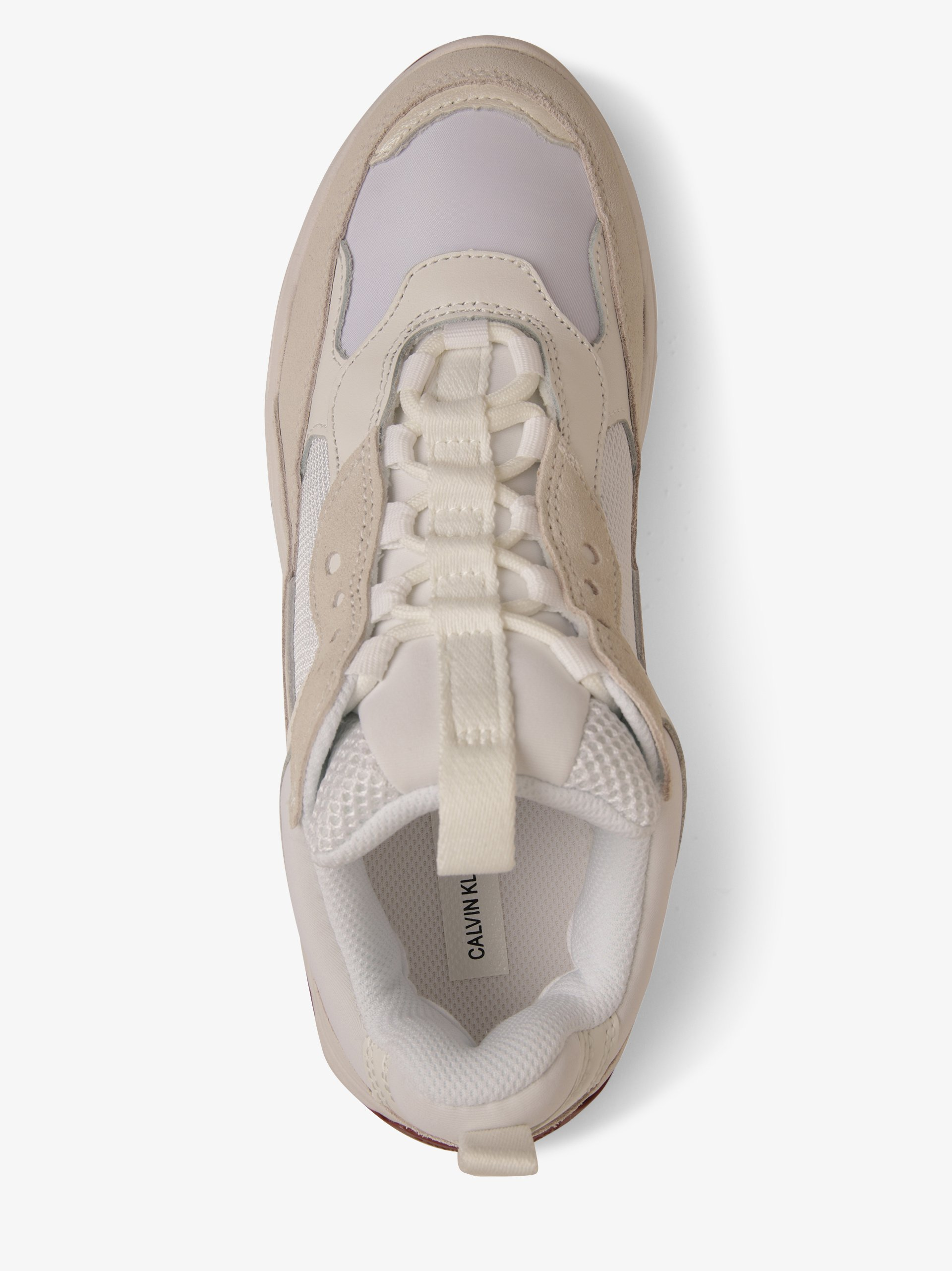 Calvin Klein Jeans Tenisówki damskie z dodatkiem skóry