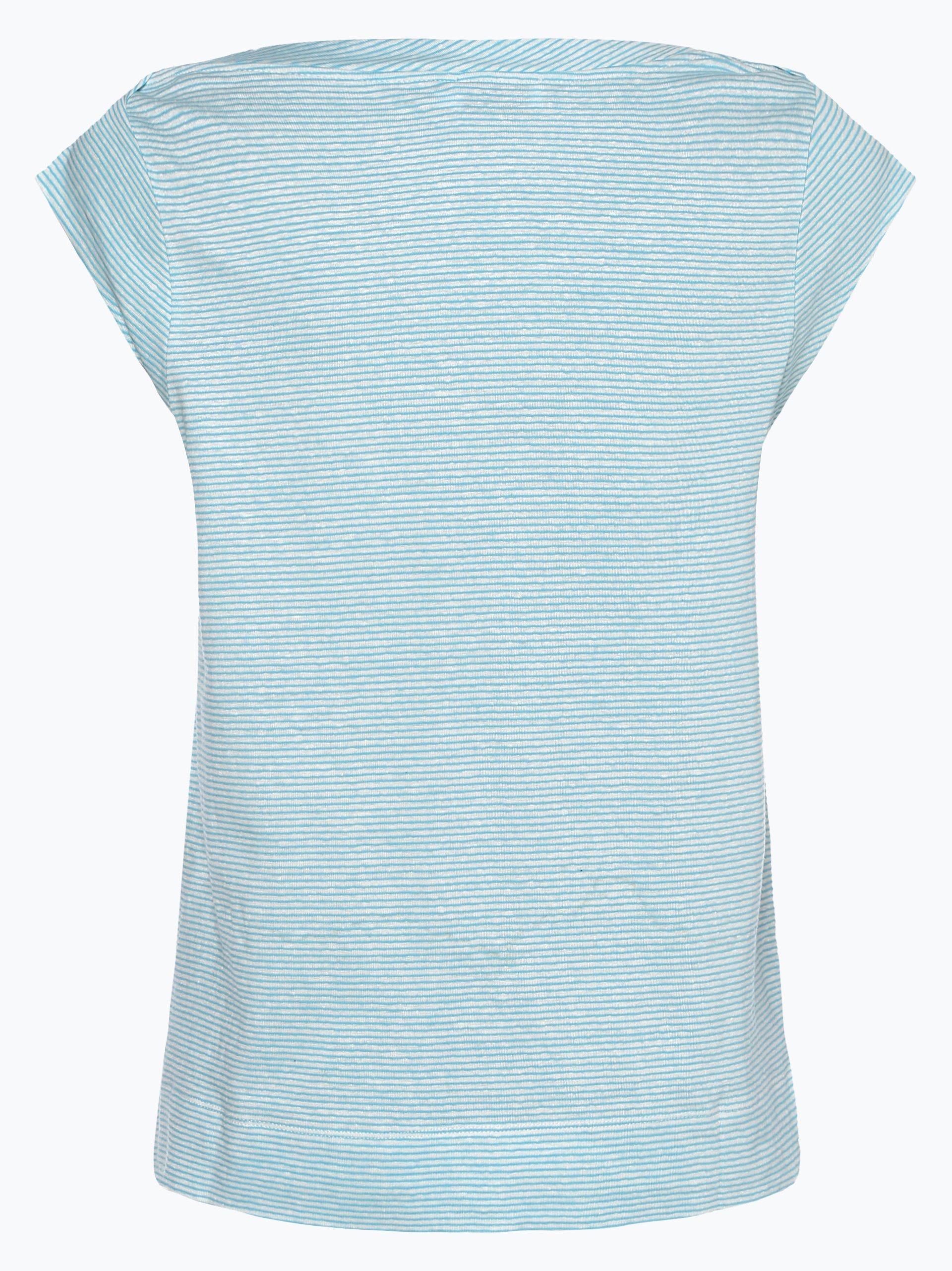 Calvin Klein T-shirt damski z dodatkiem lnu