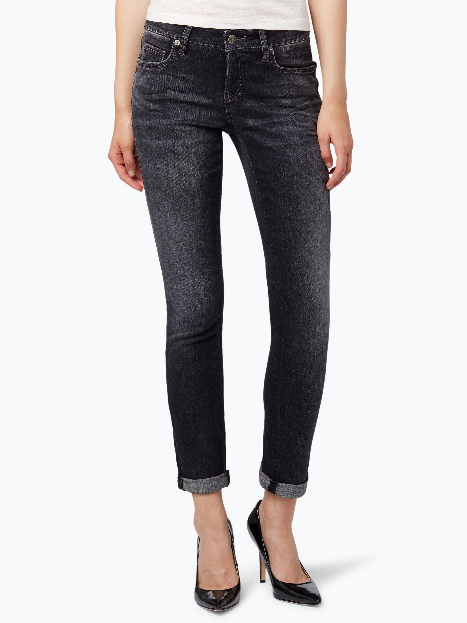 cambio damen jeans liu schwarz gemustert online kaufen. Black Bedroom Furniture Sets. Home Design Ideas