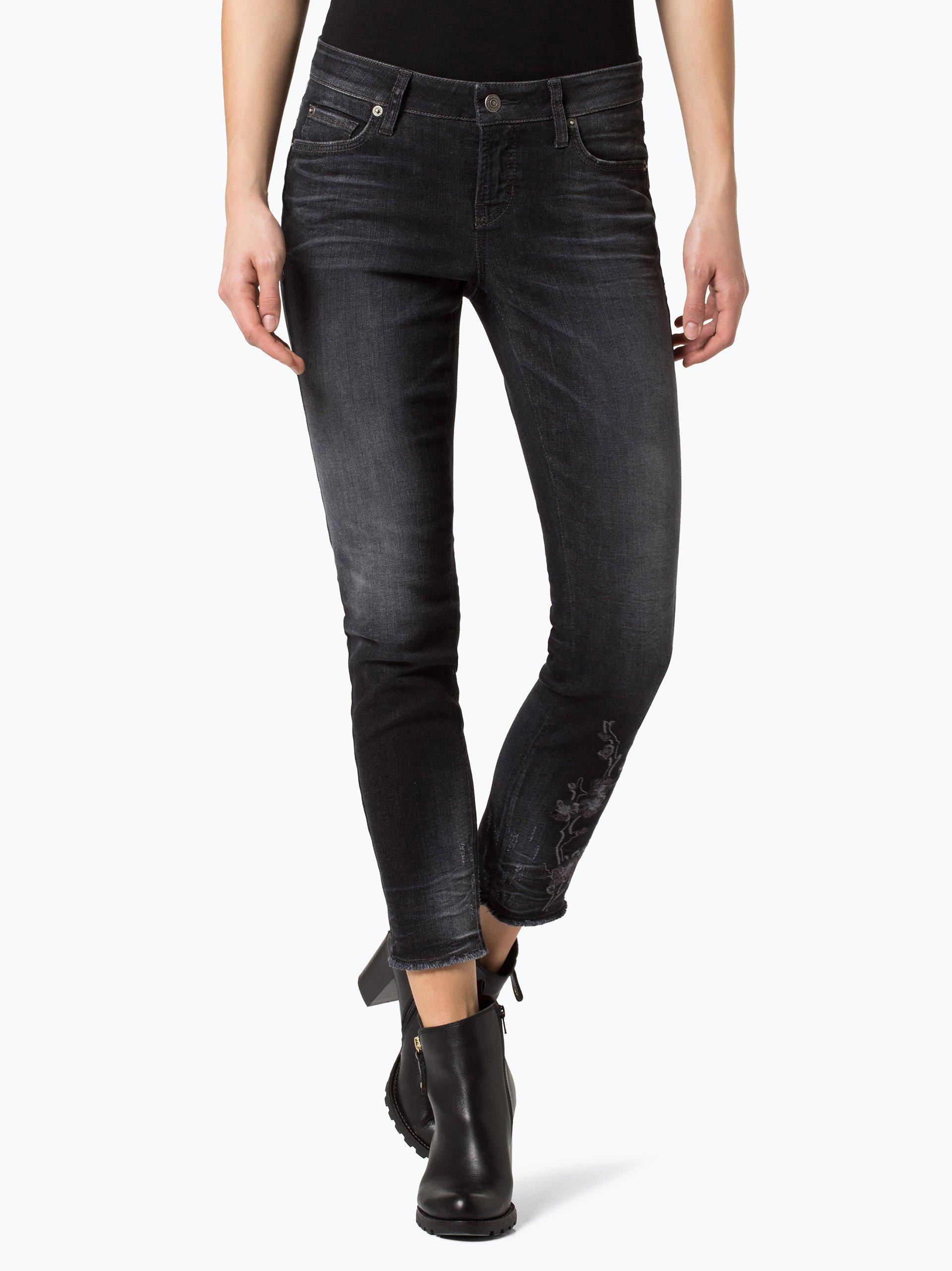 cambio damen jeans liu schwarz anthrazit gemustert online kaufen vangraaf com. Black Bedroom Furniture Sets. Home Design Ideas