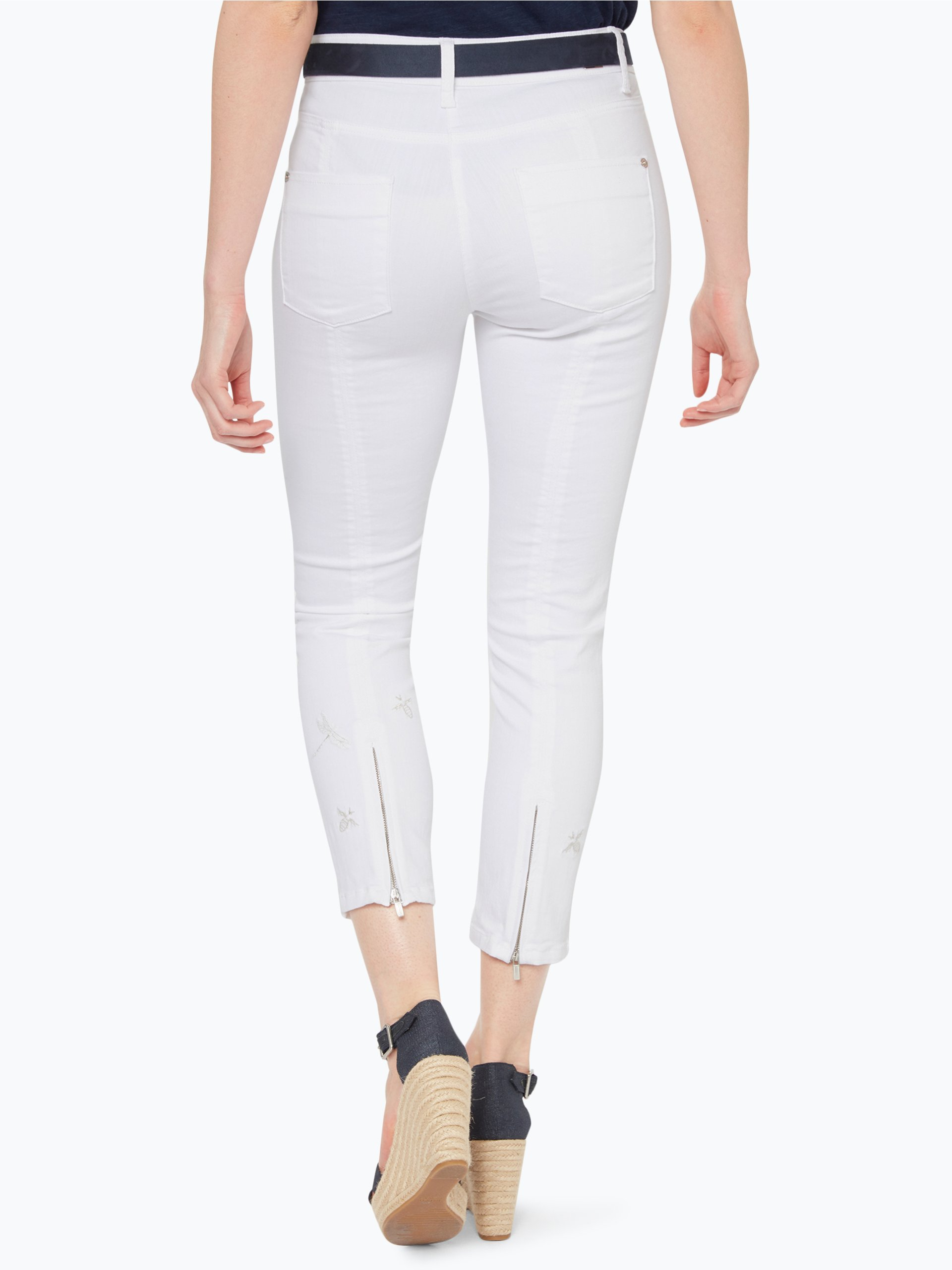 cambio damen jeans piera wei gemustert online kaufen. Black Bedroom Furniture Sets. Home Design Ideas