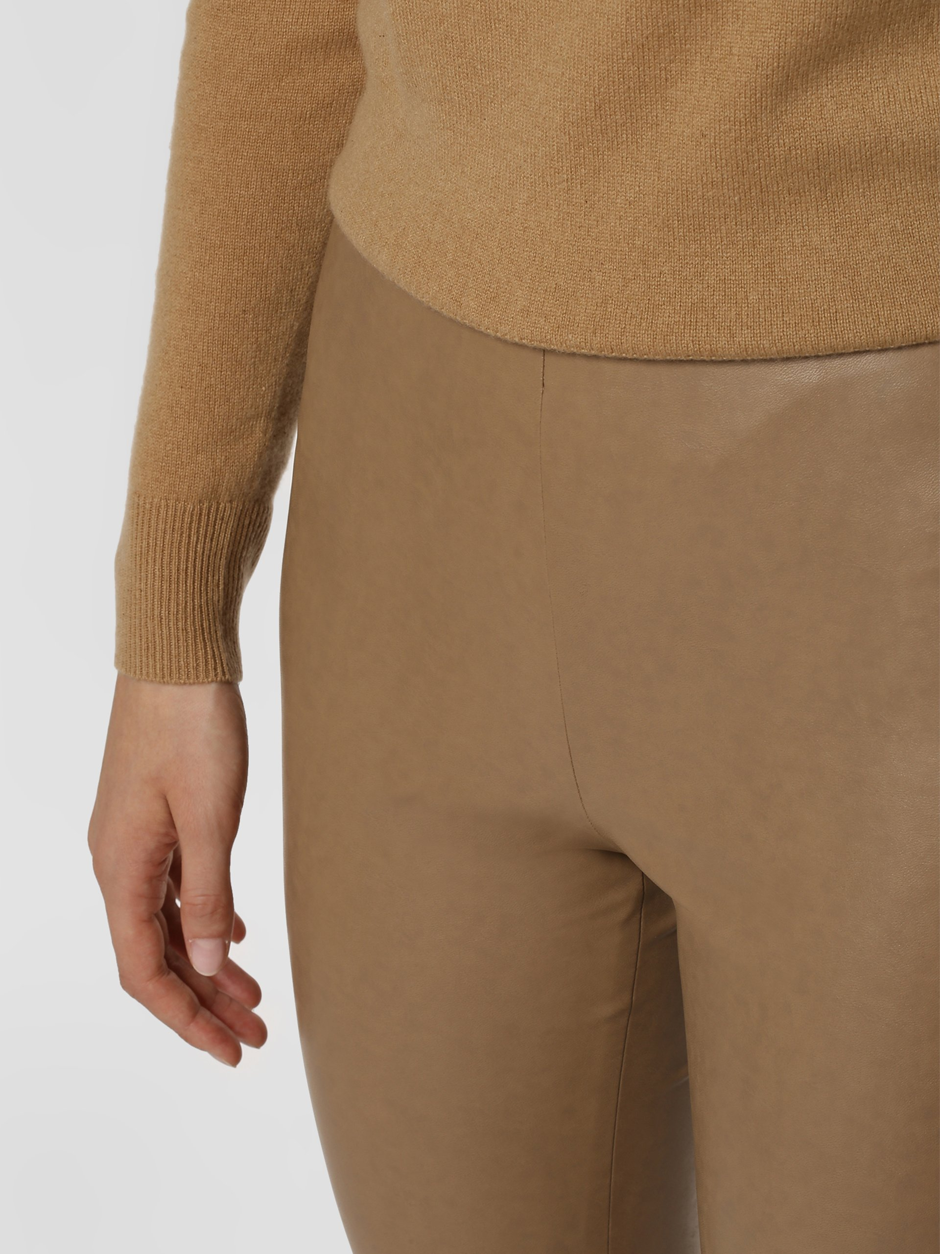 Cambio Damskie spodnie z imitacji skóry – Randa