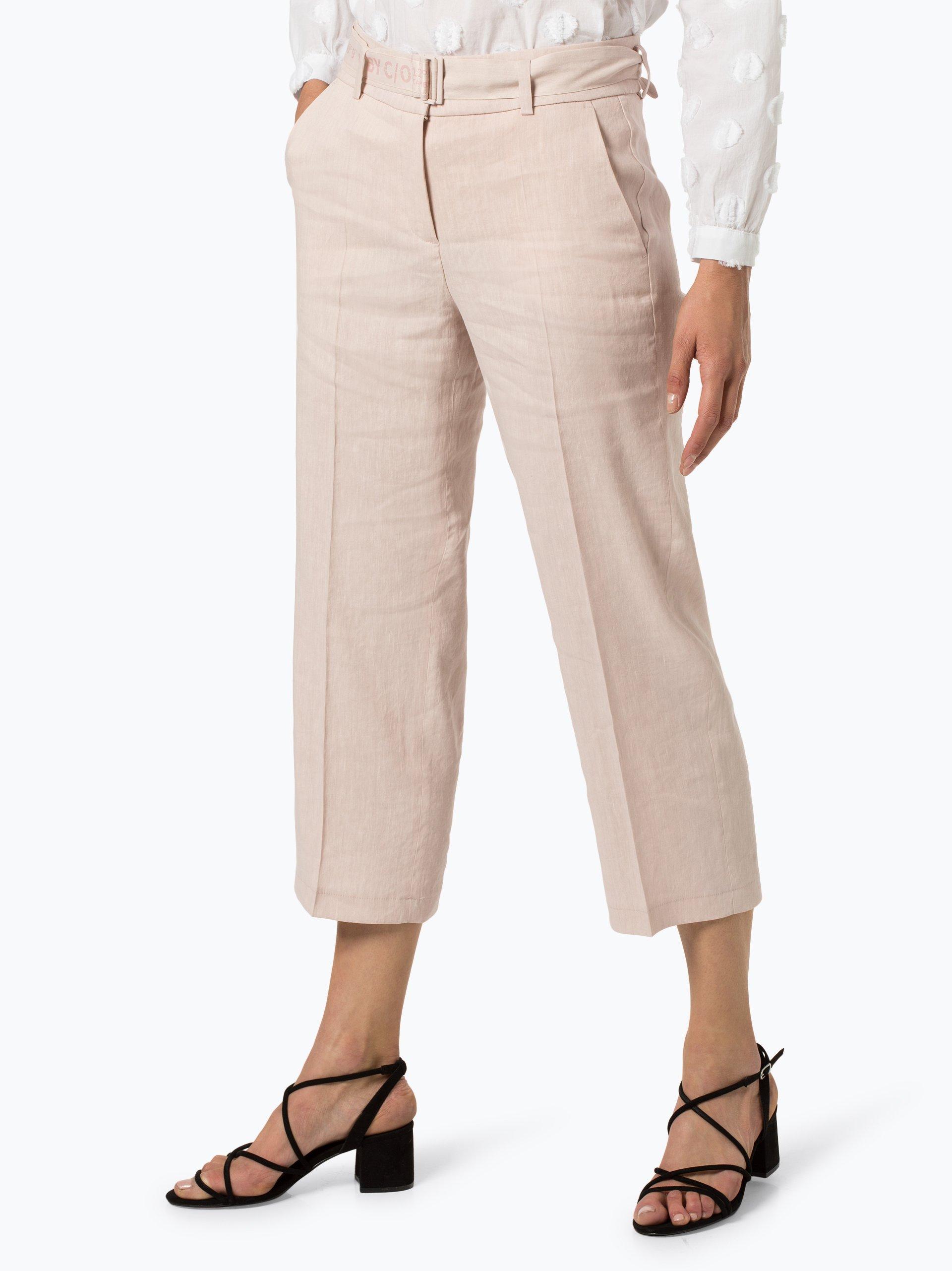 Cambio Spodnie damskie z dodatkiem lnu – Claire