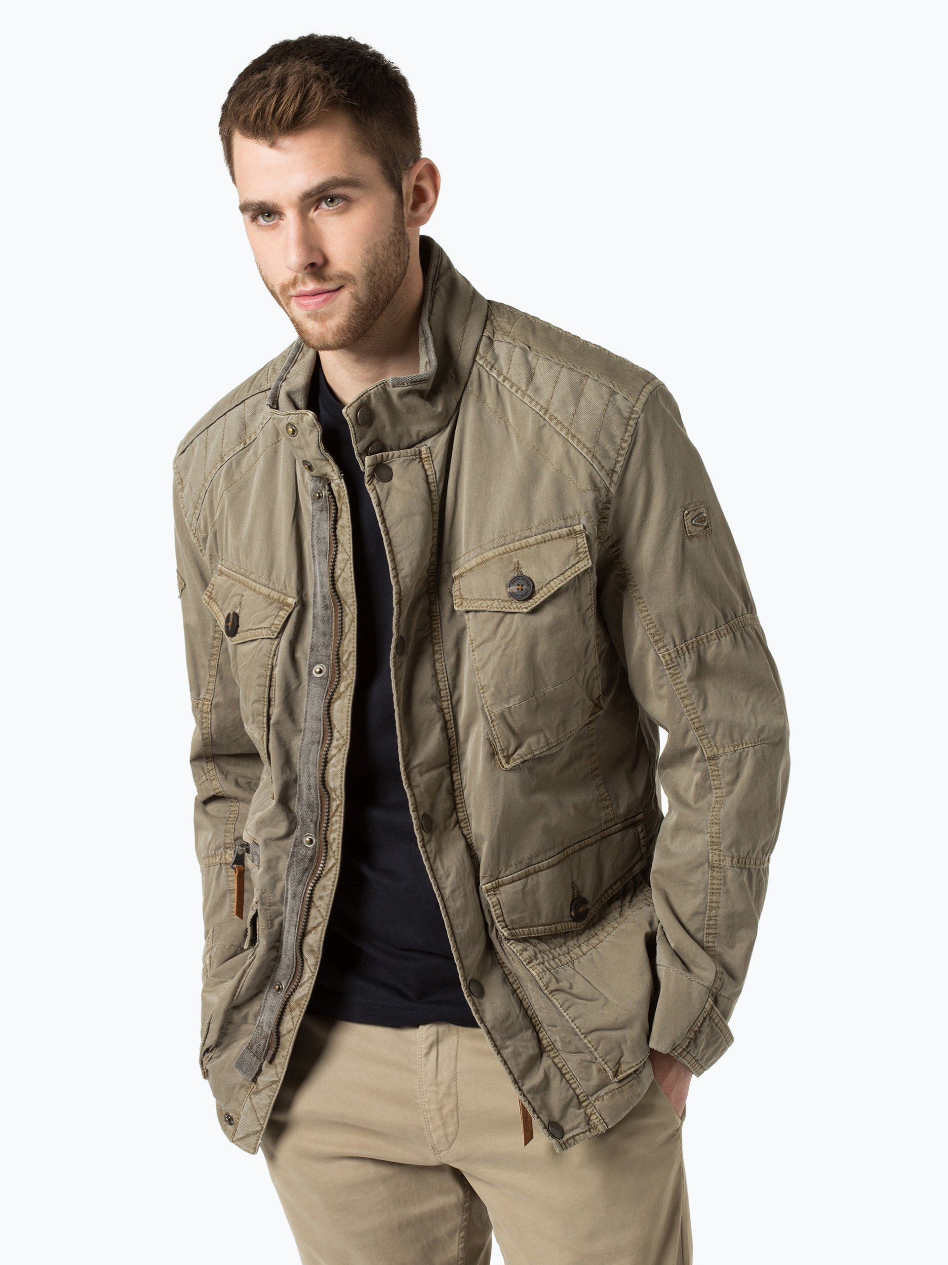 camel active herren jacke khaki uni online kaufen peek. Black Bedroom Furniture Sets. Home Design Ideas