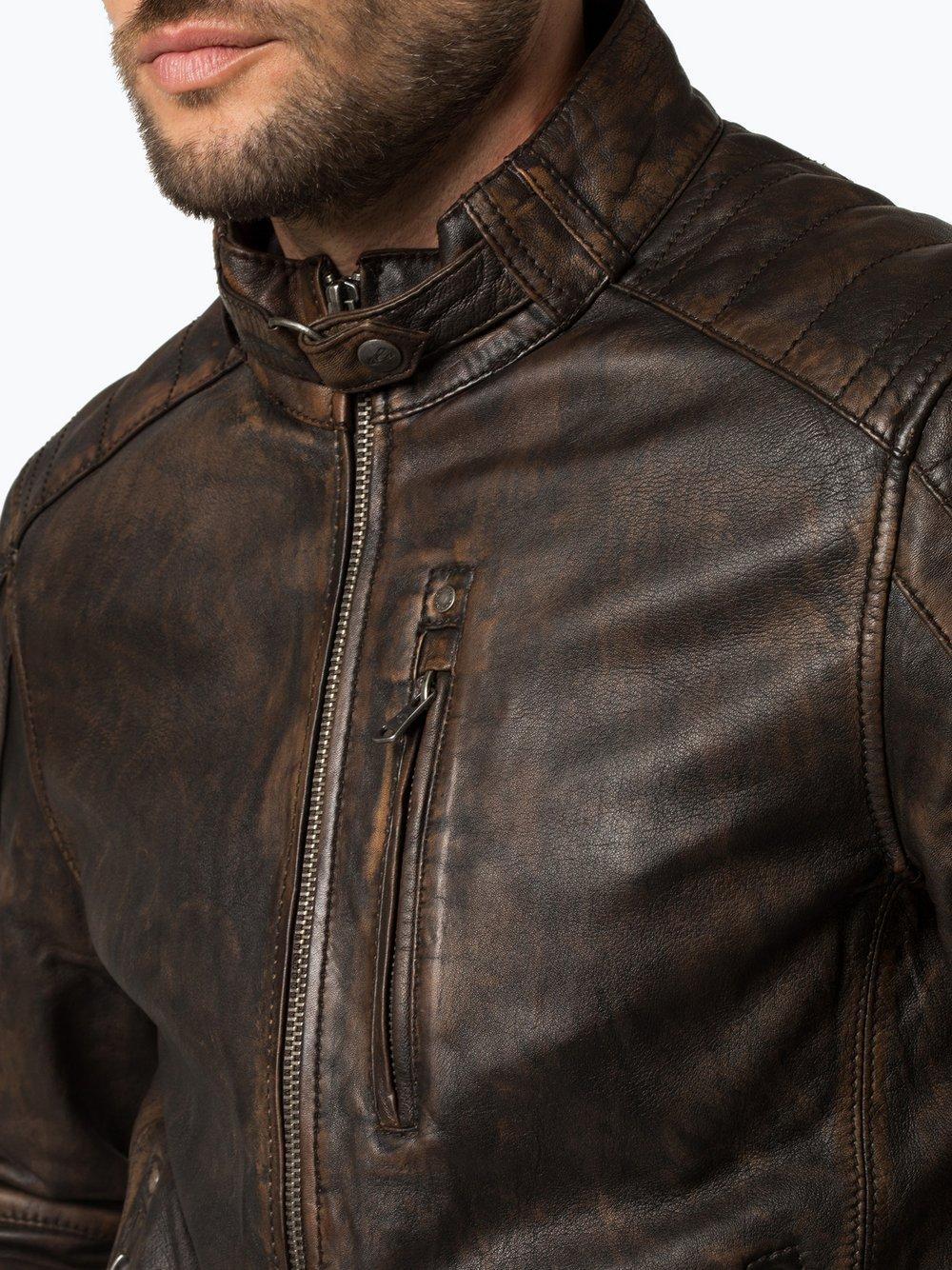 release date buying now performance sportswear Camel Active Herren Lederjacke online kaufen | VANGRAAF.COM