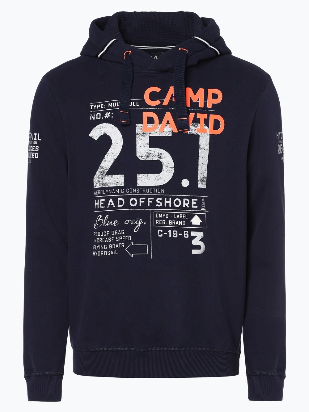 neue Season beste Seite USA billig verkaufen Camp David Herren Sweatshirt online kaufen   VANGRAAF.COM