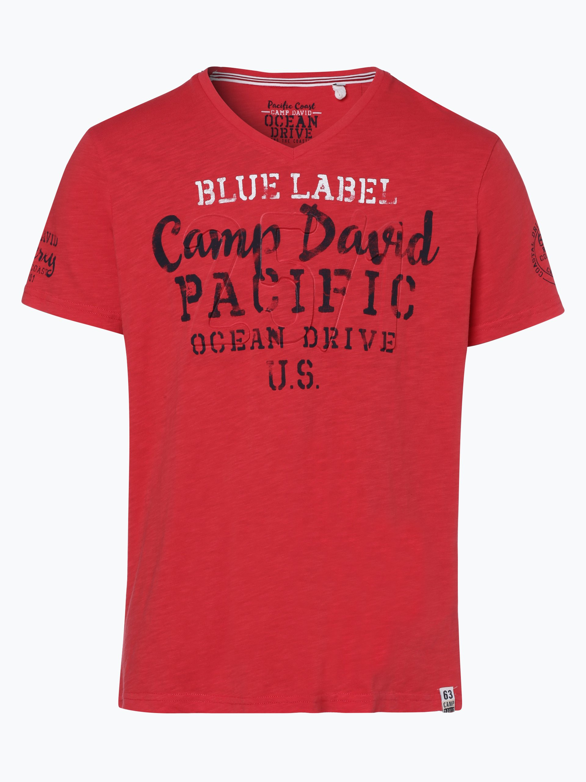 camp david herren t shirt rot bedruckt online kaufen vangraaf com. Black Bedroom Furniture Sets. Home Design Ideas