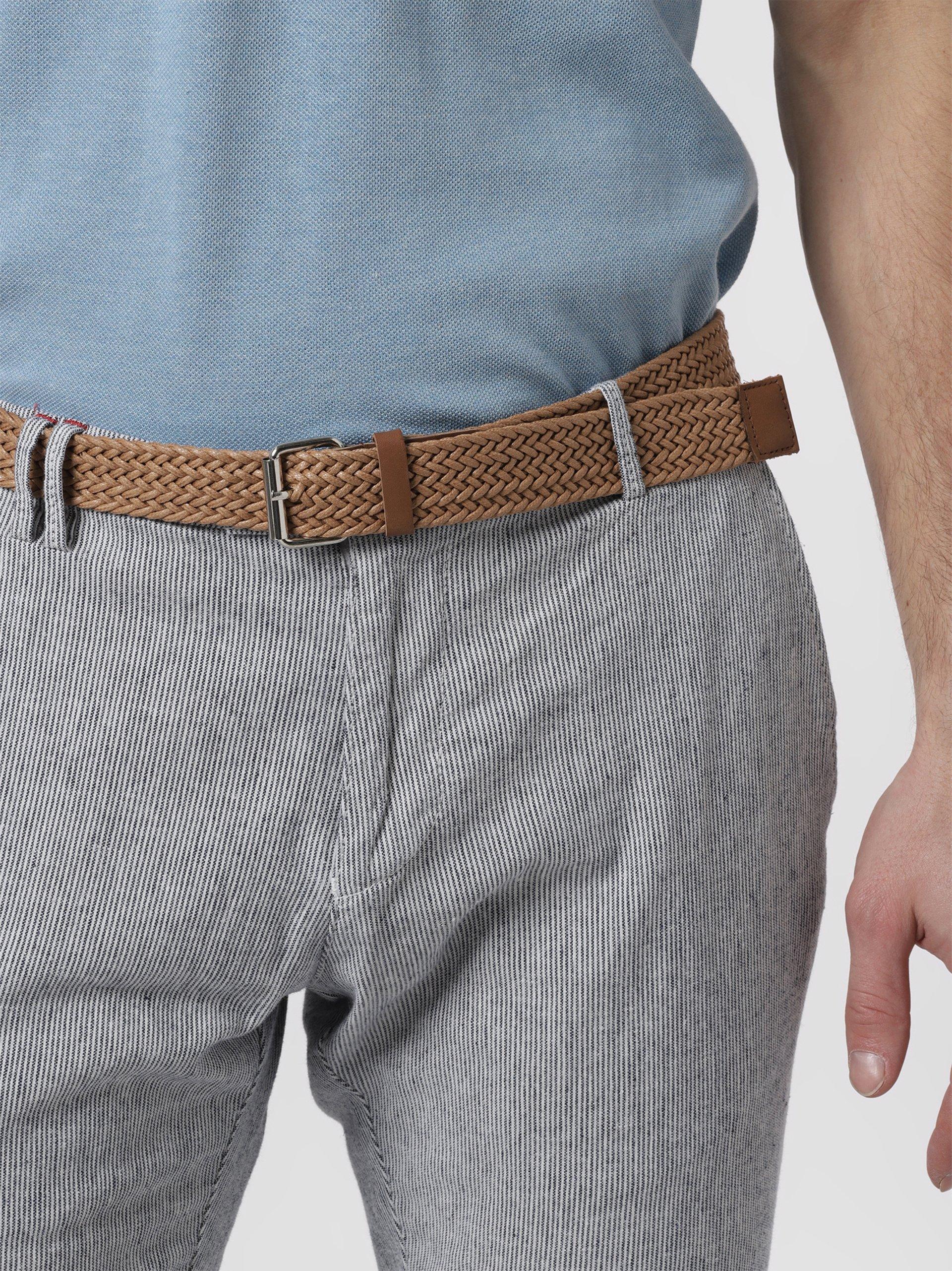 CG Spodnie męskie z dodatkiem lnu