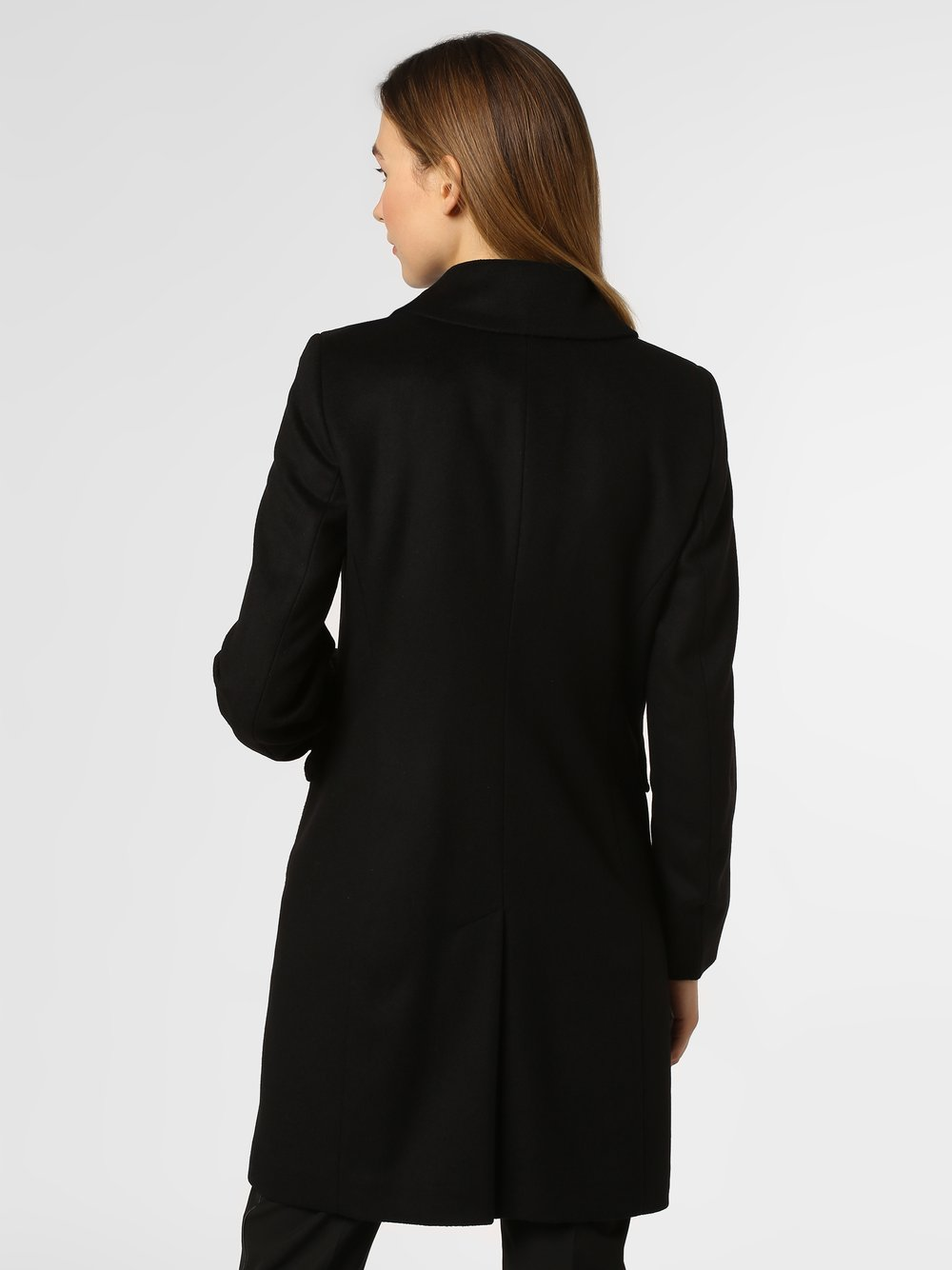 Cinque schwarz Cashmere Mantel Damen uni Damen Anteil mit ynOPvmwN08