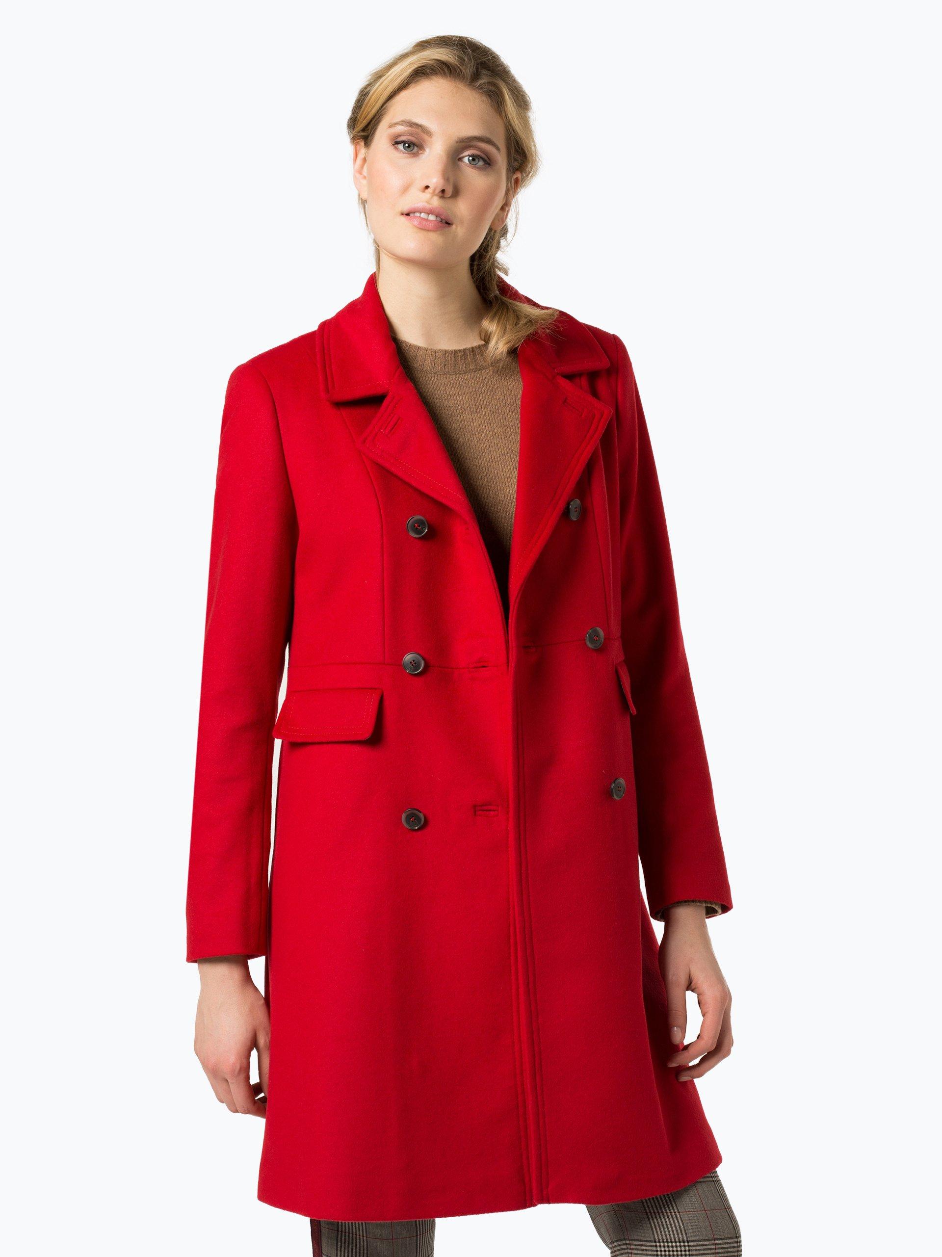 cinque damen mantel mit cashmere anteil tessla rot uni online kaufen vangraaf com. Black Bedroom Furniture Sets. Home Design Ideas