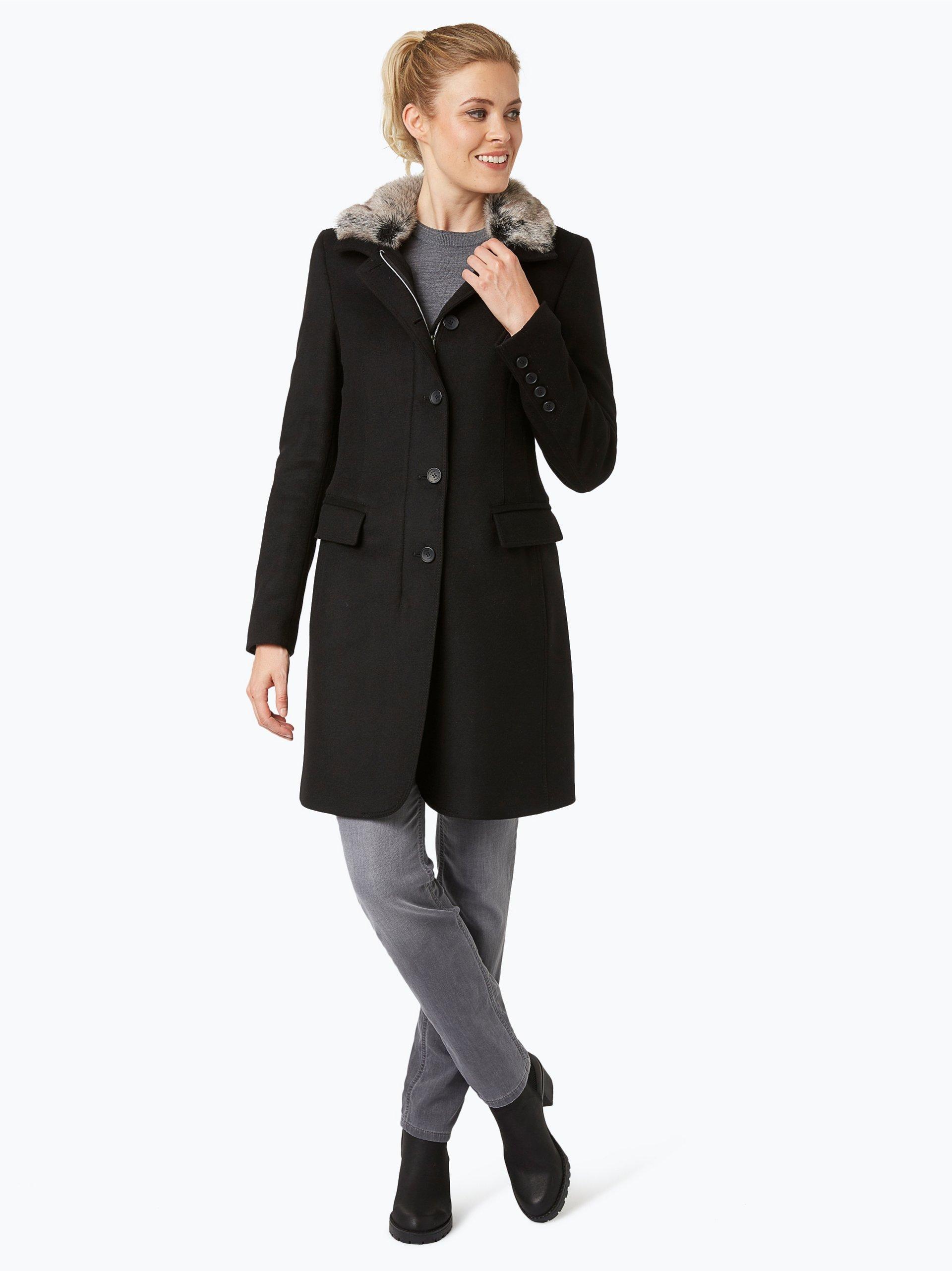 cinque damen mantel mit cashmere anteil schwarz uni online. Black Bedroom Furniture Sets. Home Design Ideas