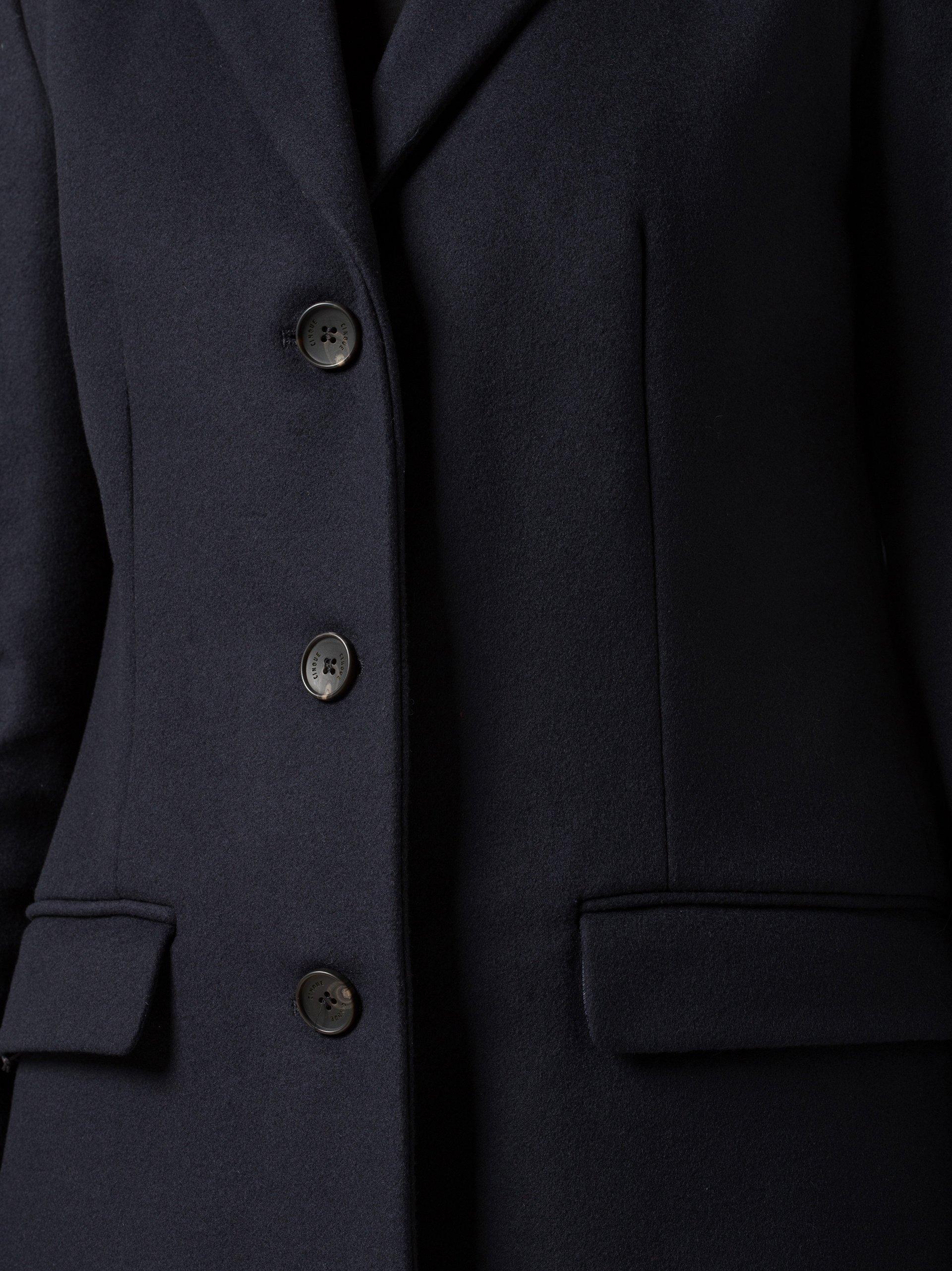 cinque damen mantel mit cashmere anteil marine uni online kaufen vangraaf com. Black Bedroom Furniture Sets. Home Design Ideas