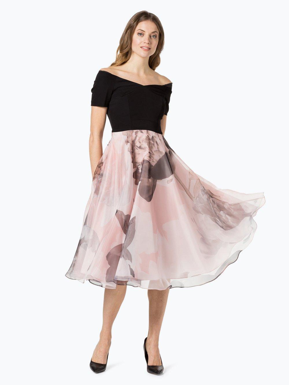 Coast Damen Abendkleid - Kadrianna Risca schwarz rosa gemustert ...