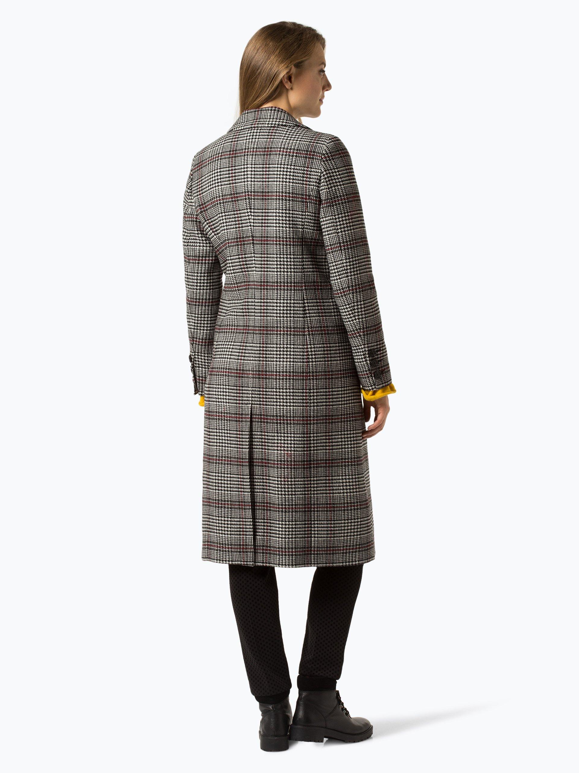 comma casual identity damen mantel mit cashmere anteil schwarz rot kariert online kaufen peek. Black Bedroom Furniture Sets. Home Design Ideas