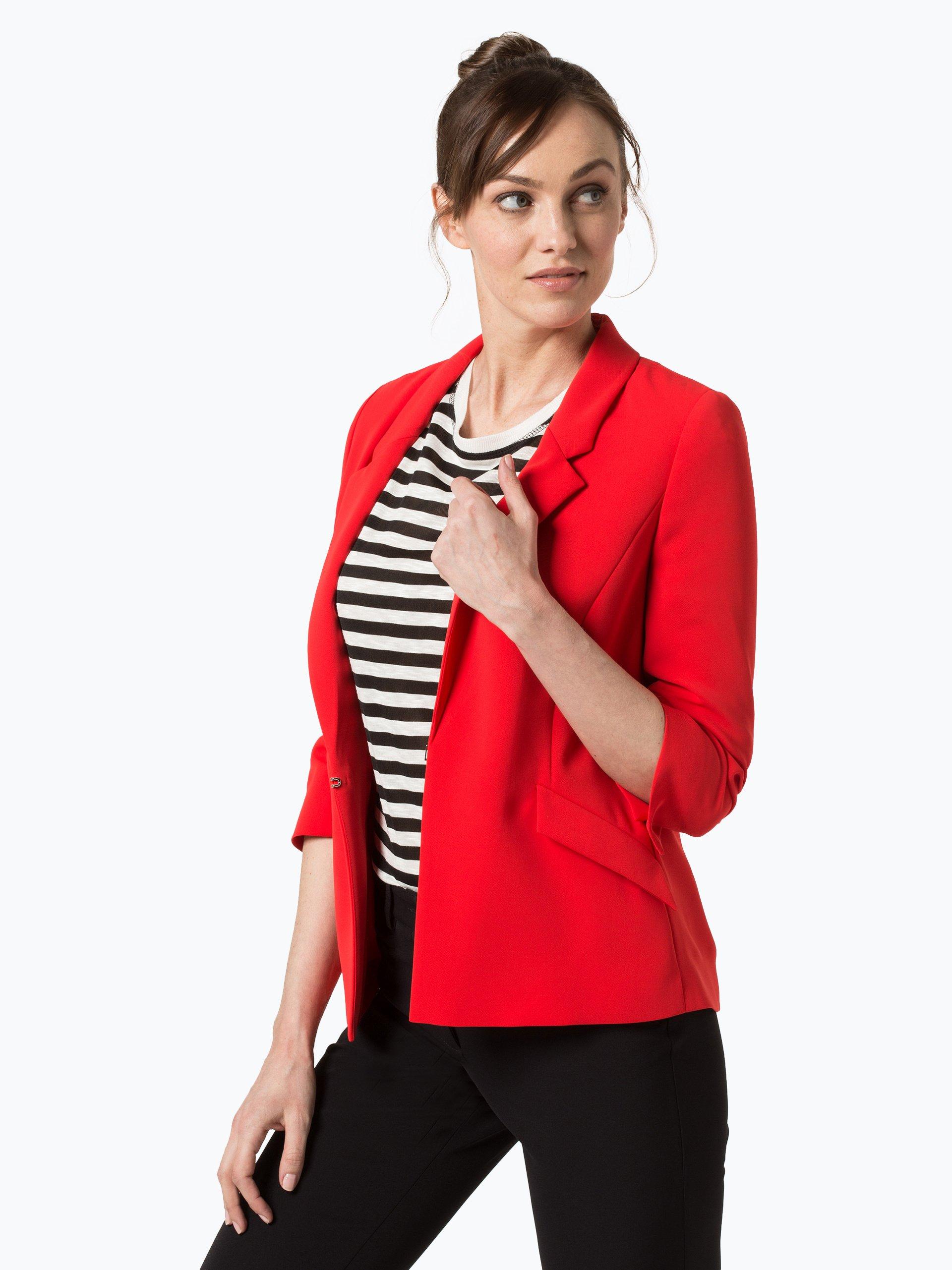 comma damen blazer rot uni online kaufen peek und cloppenburg de. Black Bedroom Furniture Sets. Home Design Ideas