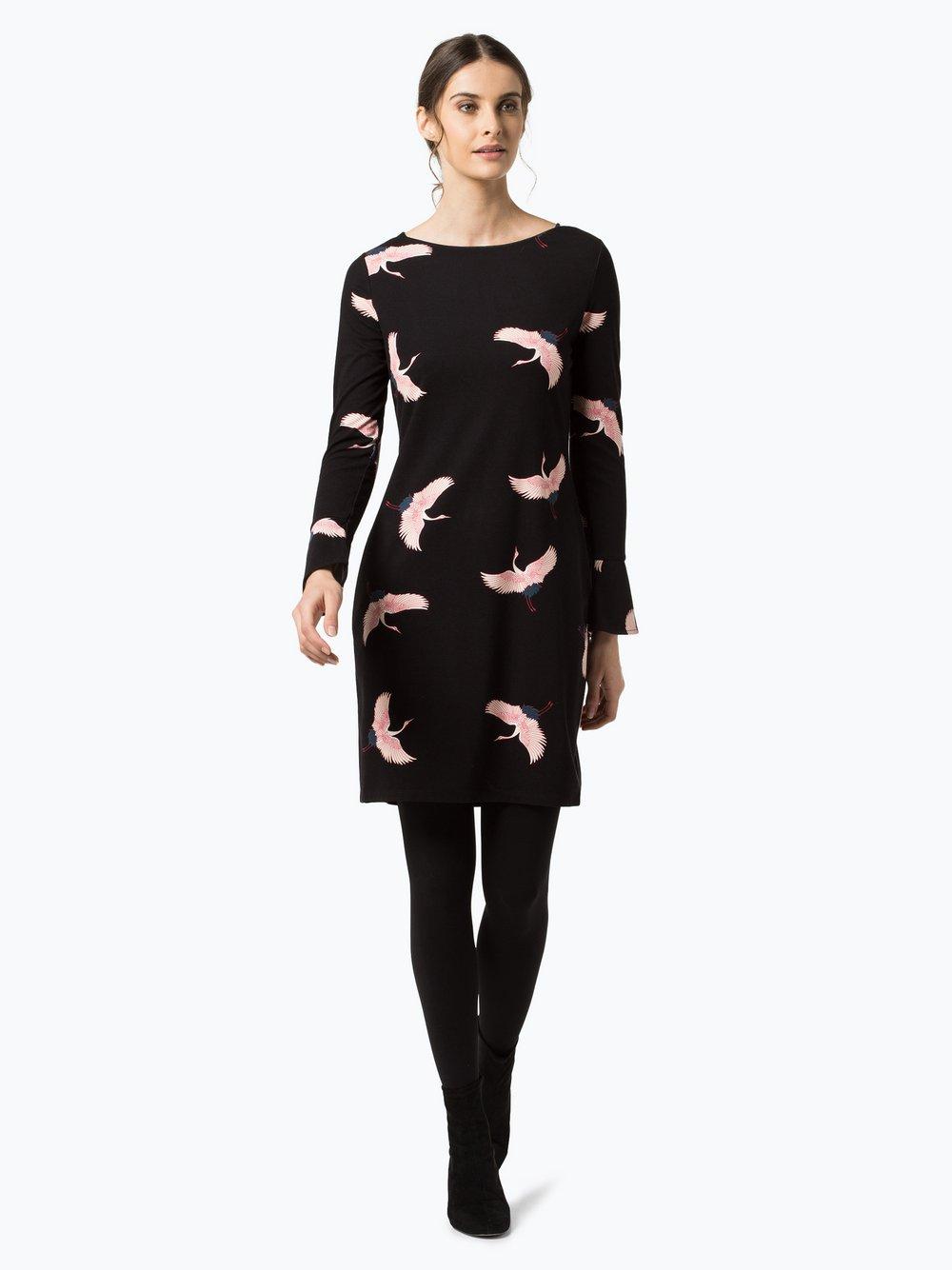 Comma Damen Kleid schwarz rosa bedruckt online kaufen | VANGRAAF.COM