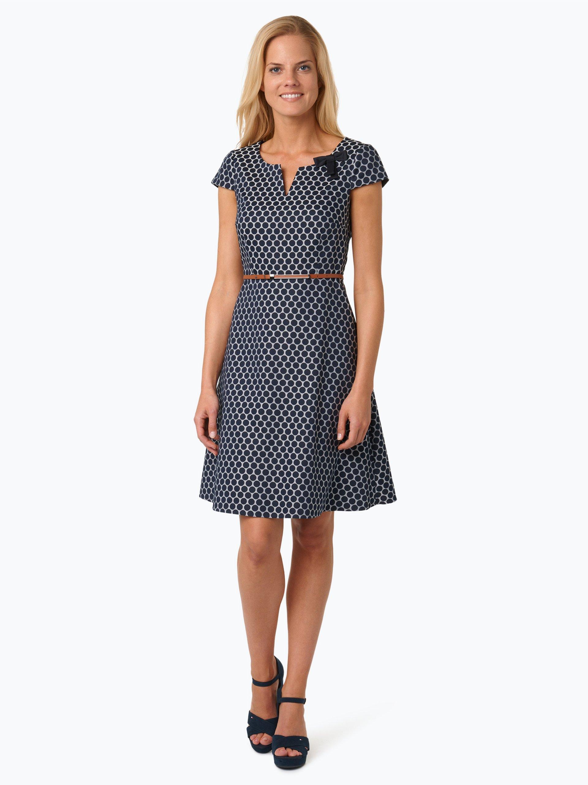 comma damen kleid blau gepunktet online kaufen peek und cloppenburg de. Black Bedroom Furniture Sets. Home Design Ideas