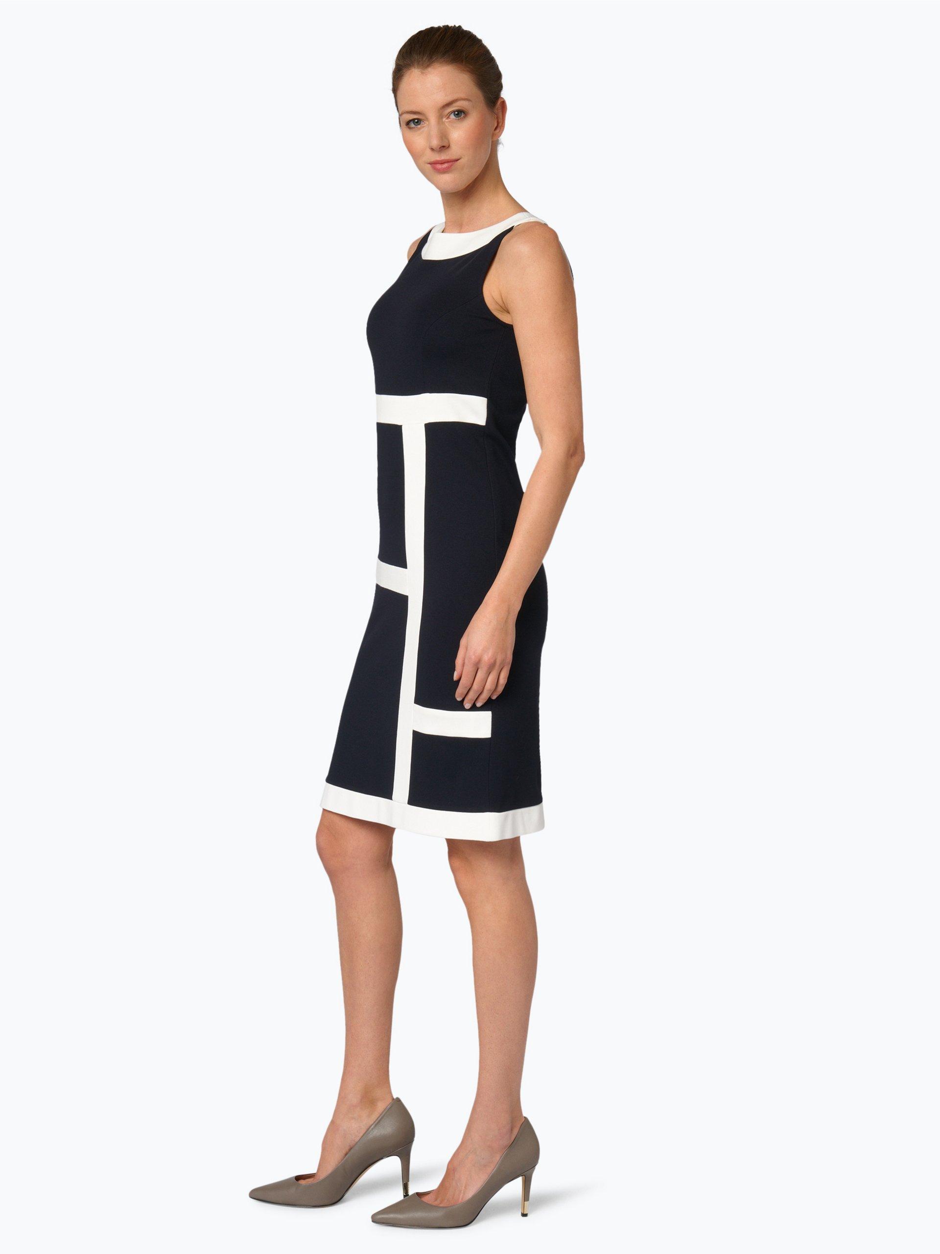 Comma Damen Kleid marine uni online kaufen | VANGRAAF.COM