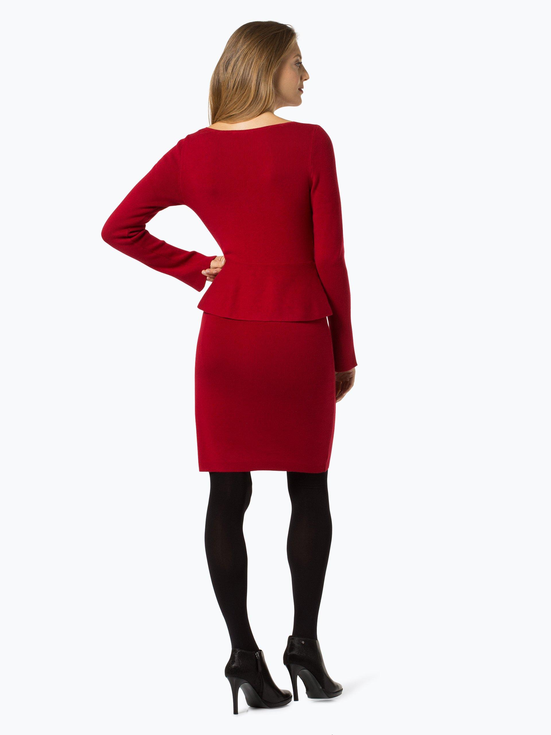 comma damen kleid rot uni online kaufen peek und. Black Bedroom Furniture Sets. Home Design Ideas