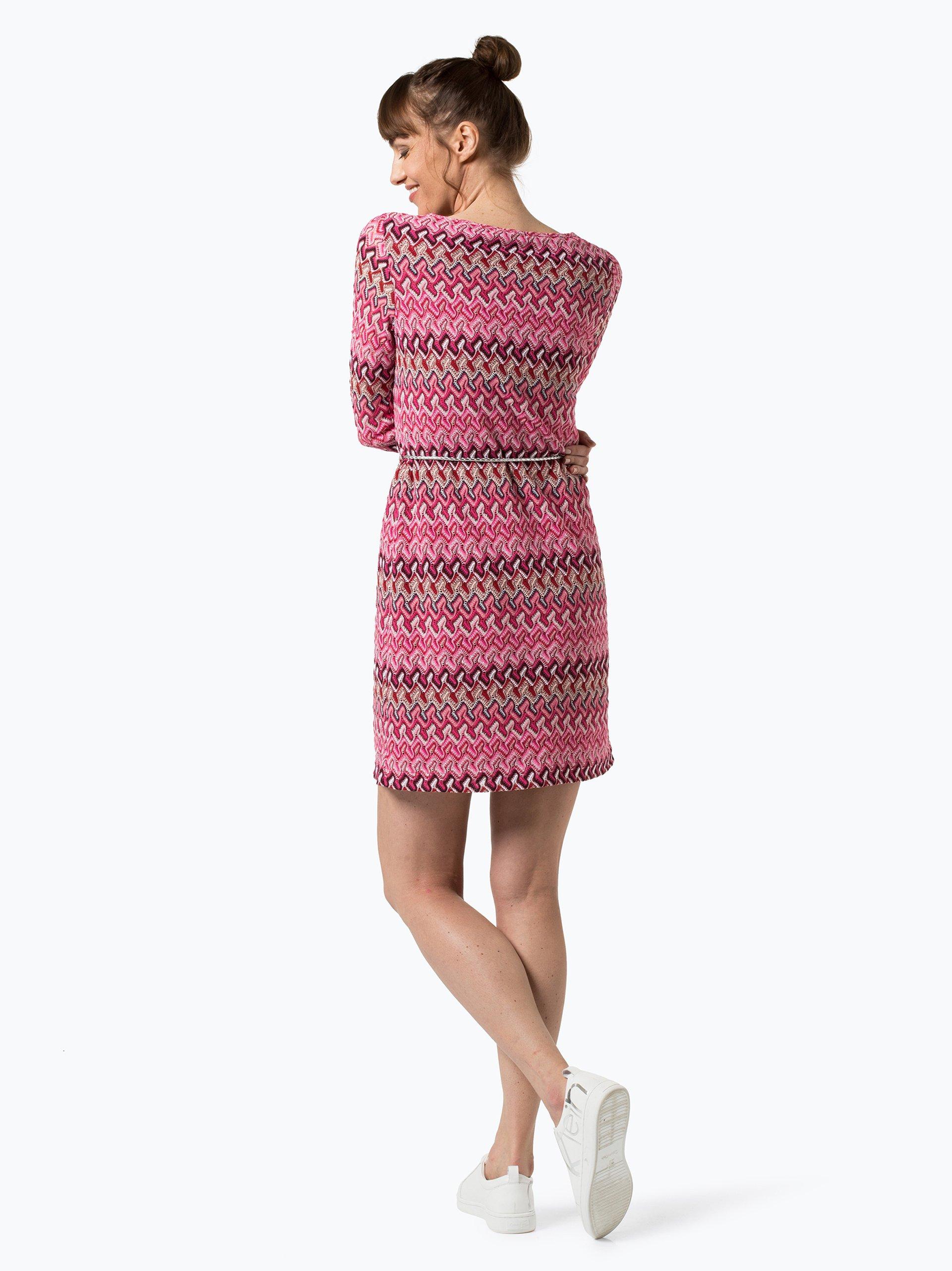 comma damen kleid pink gemustert online kaufen vangraaf com. Black Bedroom Furniture Sets. Home Design Ideas