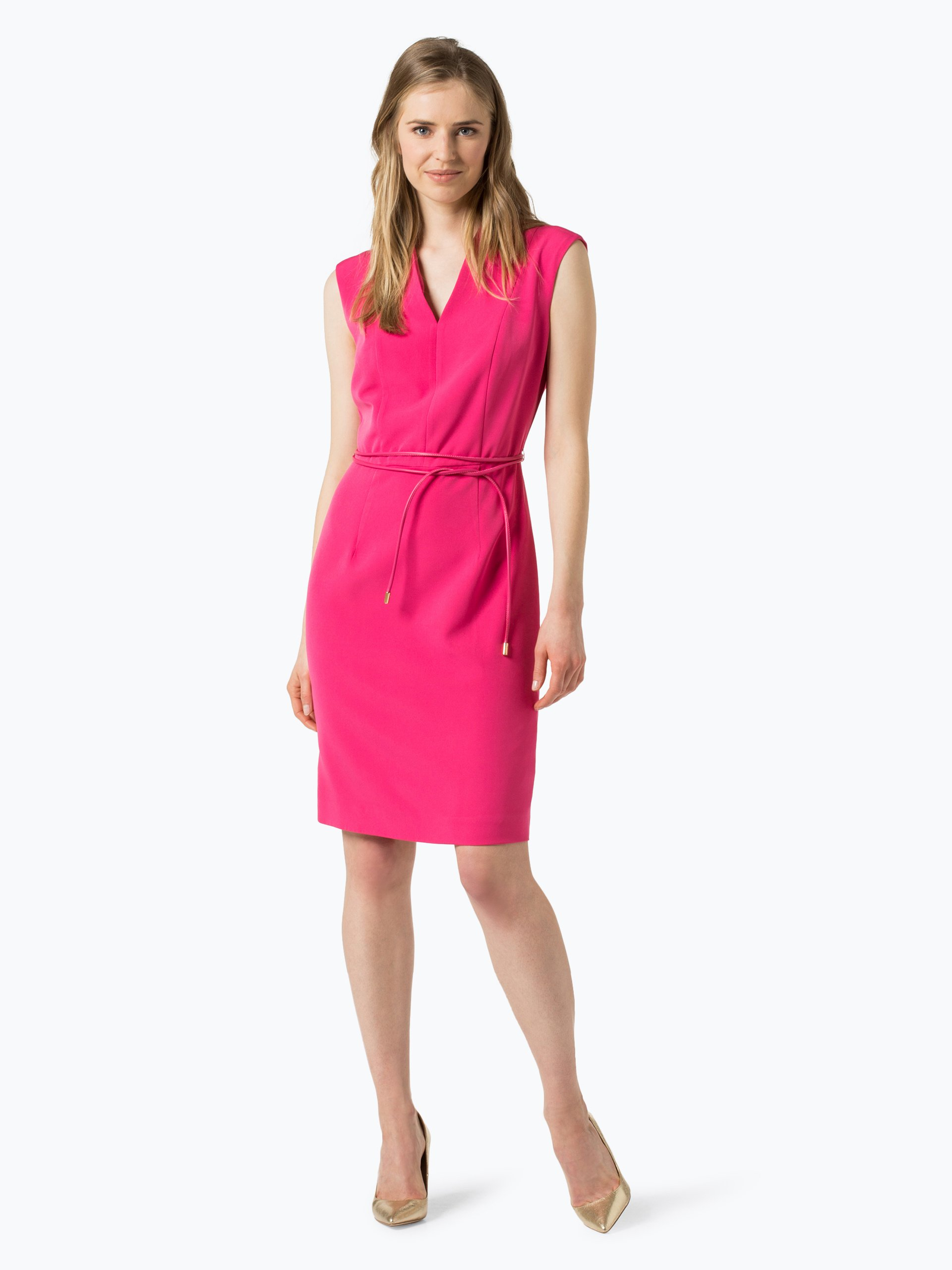 comma damen kleid pink uni online kaufen vangraaf com. Black Bedroom Furniture Sets. Home Design Ideas