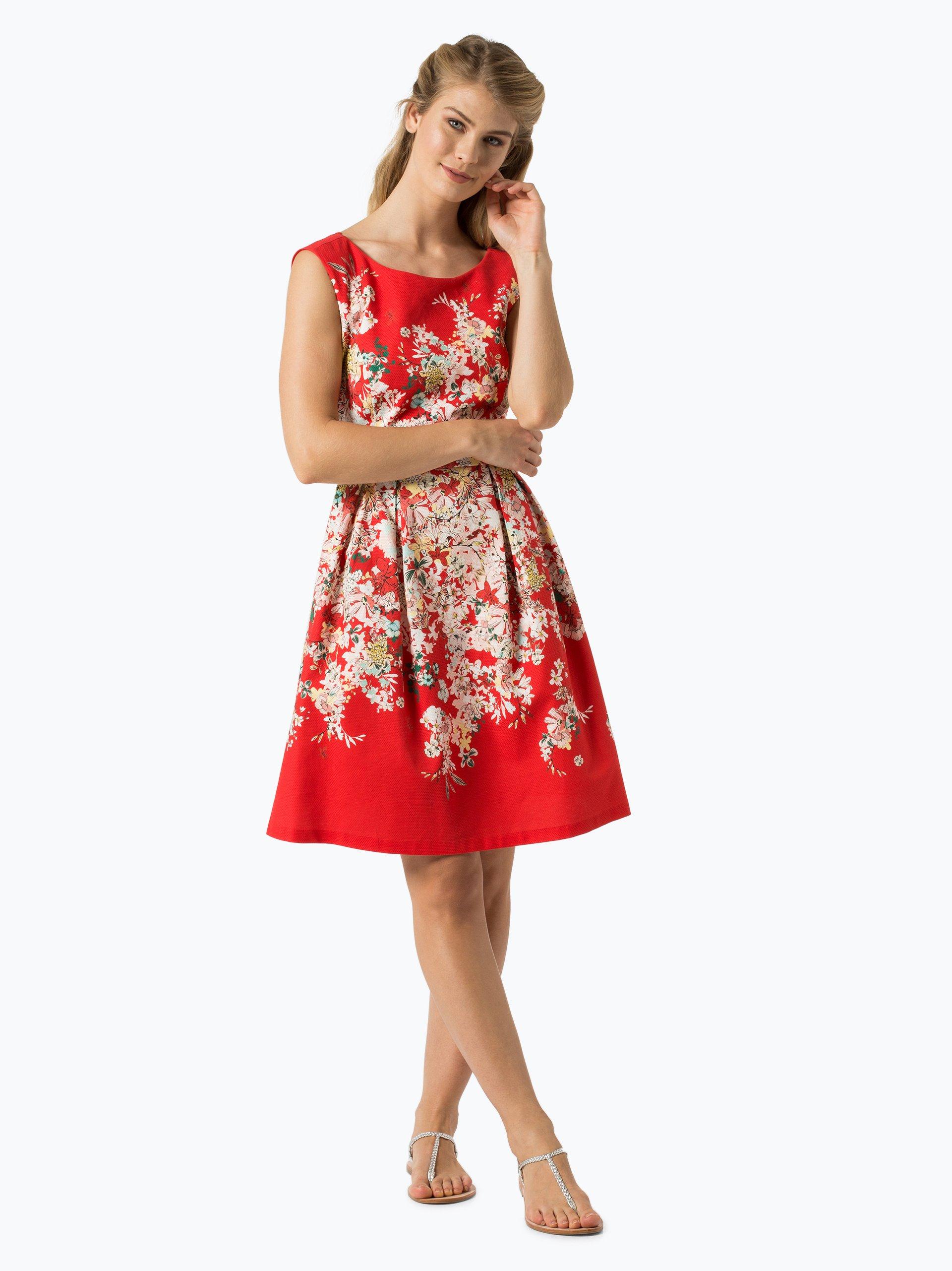 comma damen kleid rot bedruckt online kaufen peek und cloppenburg de. Black Bedroom Furniture Sets. Home Design Ideas