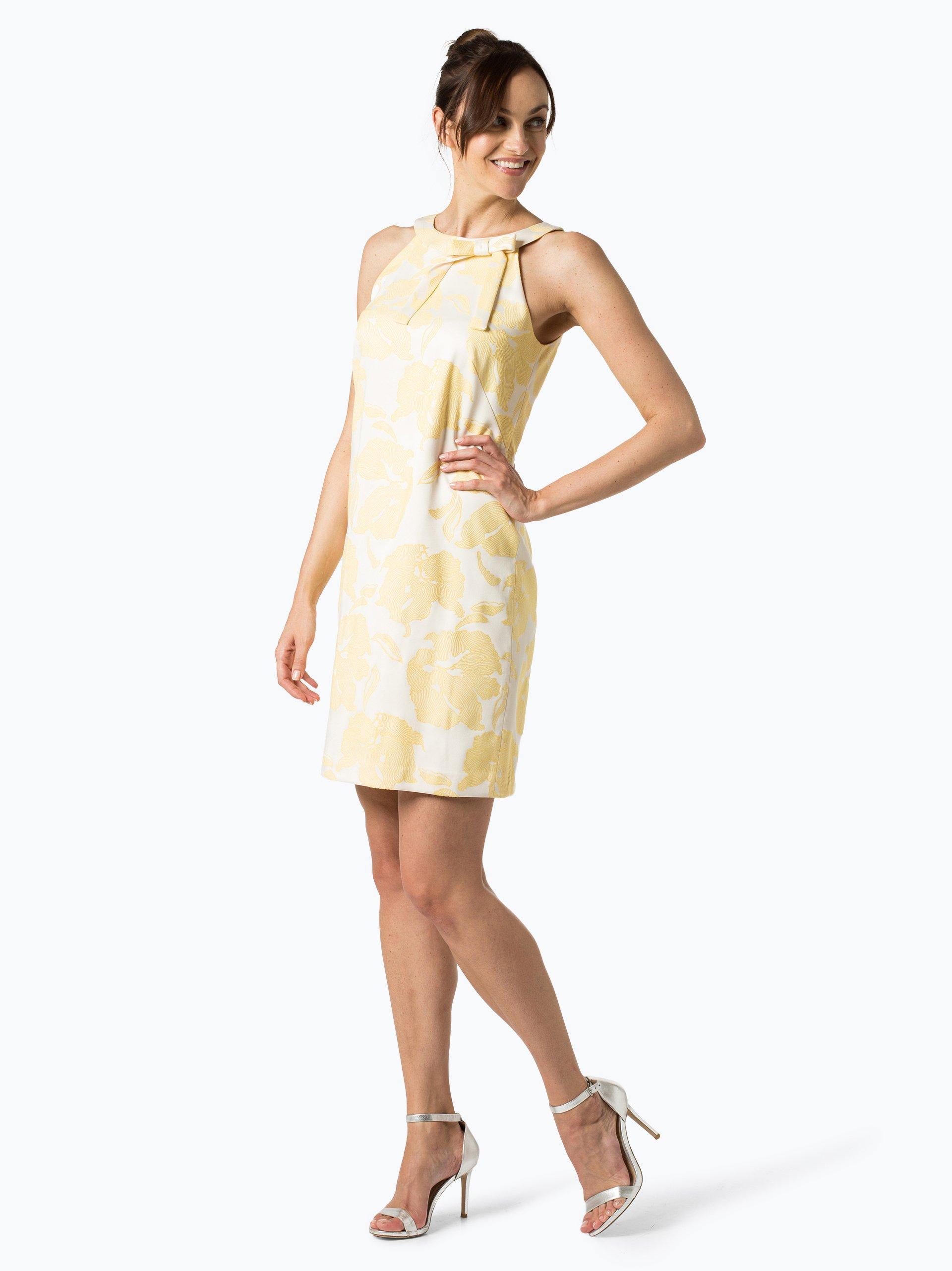 comma damen kleid gelb gemustert online kaufen peek und. Black Bedroom Furniture Sets. Home Design Ideas