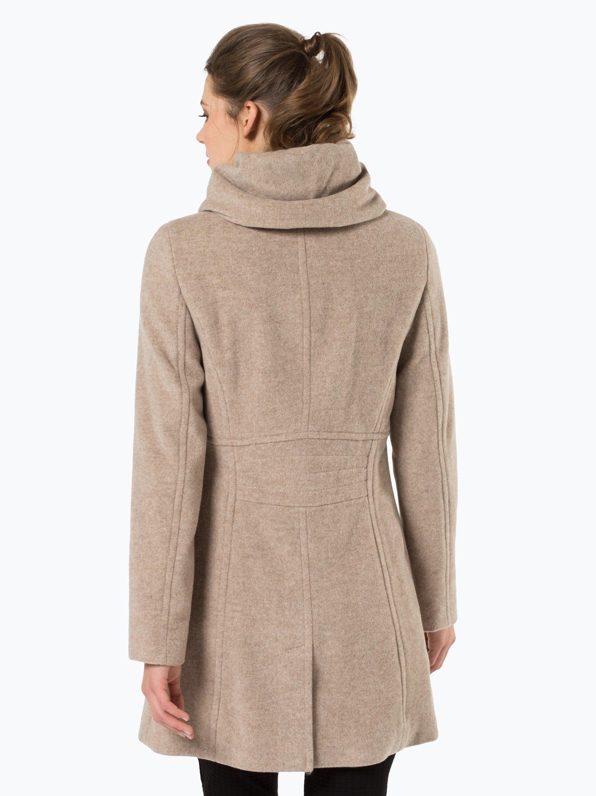 comma damen mantel mit cashmere anteil beige uni online kaufen vangraaf com. Black Bedroom Furniture Sets. Home Design Ideas