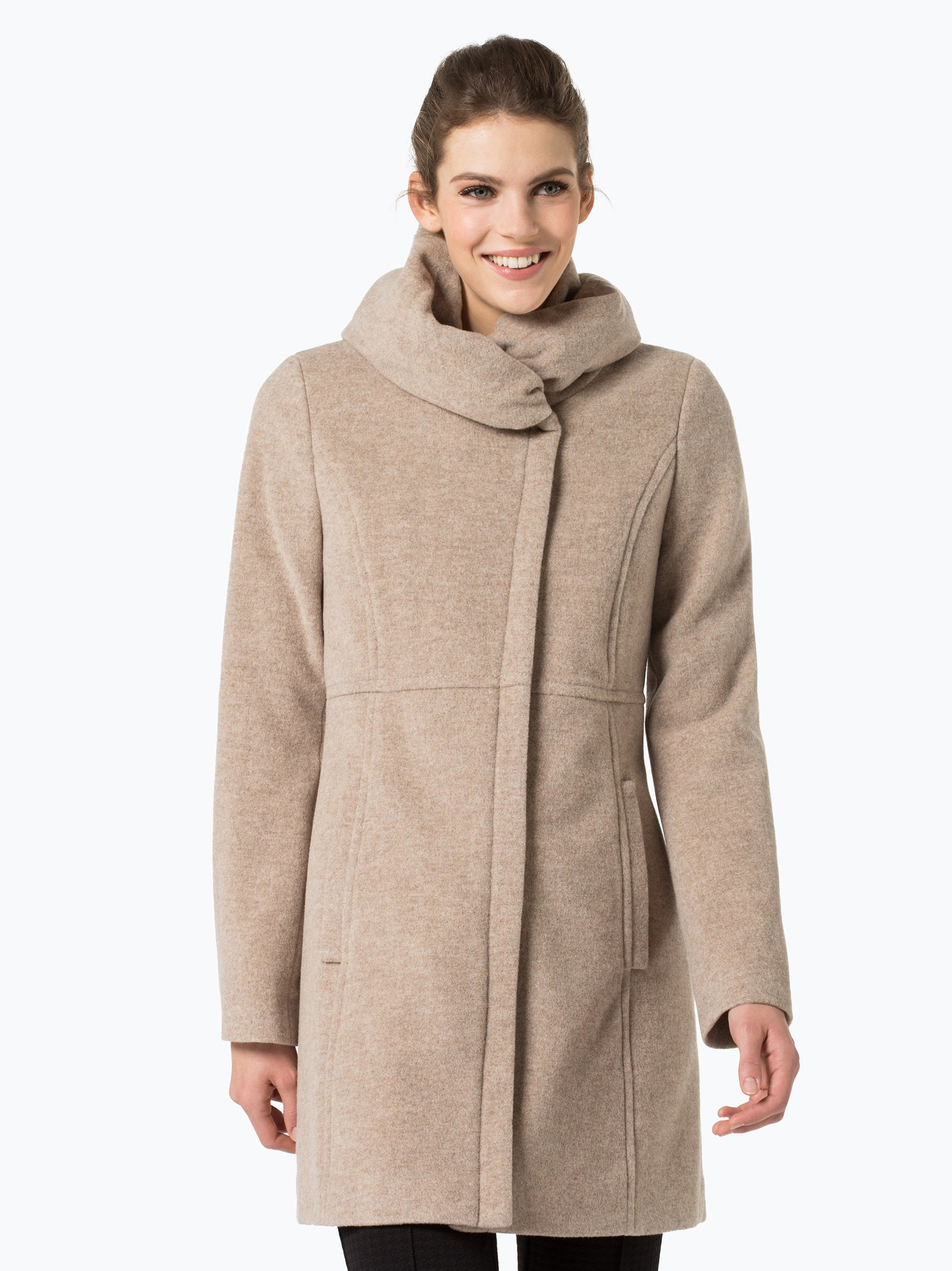 comma damen mantel mit cashmere anteil beige uni online kaufen peek und cloppenburg de. Black Bedroom Furniture Sets. Home Design Ideas