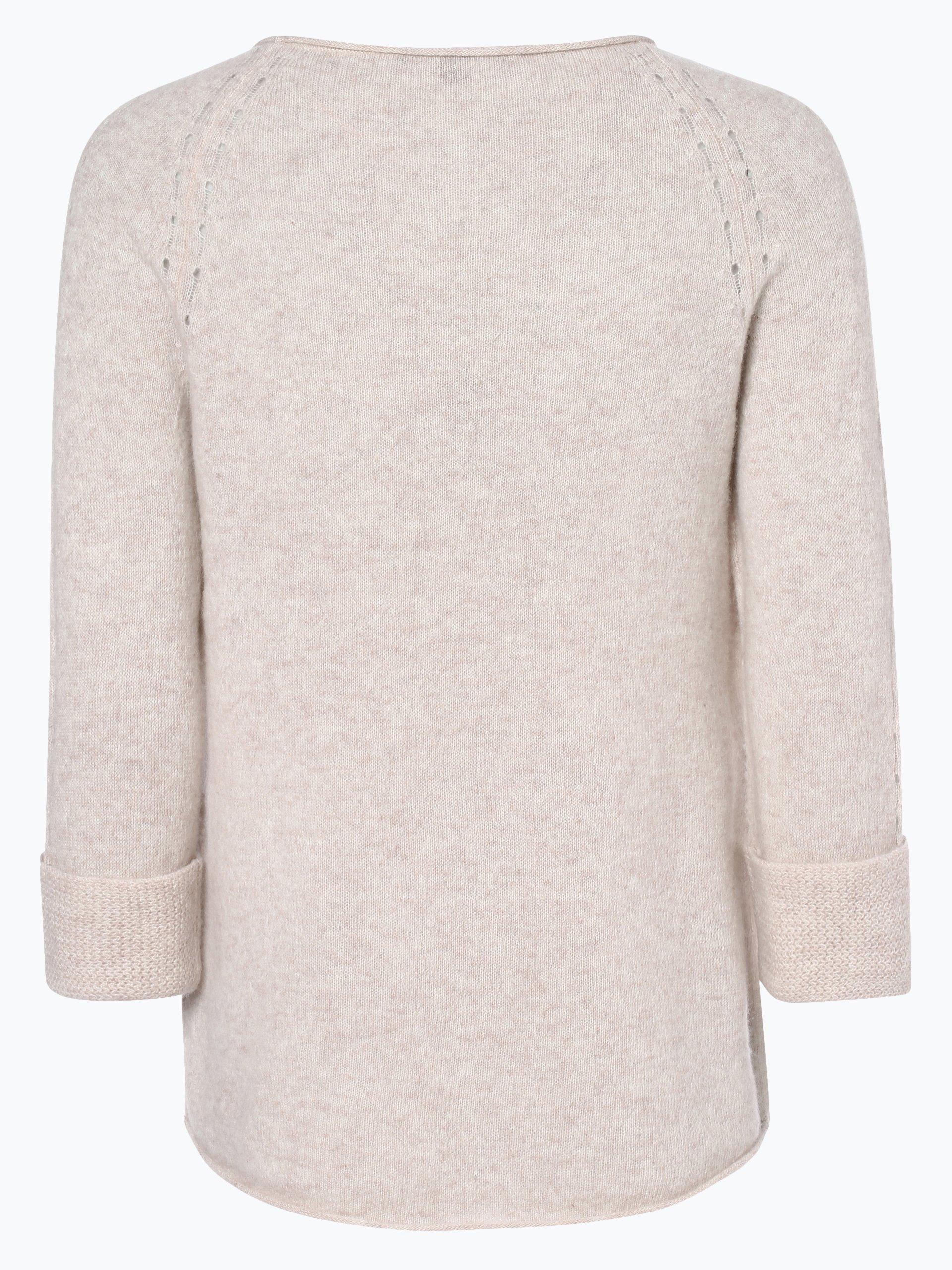 comma damen pullover mit cashmere anteil beige uni online. Black Bedroom Furniture Sets. Home Design Ideas