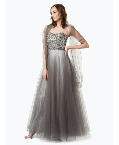 Unique Damen Abendkleid mit Stola anthrazit uni online kaufen | PEEK ...