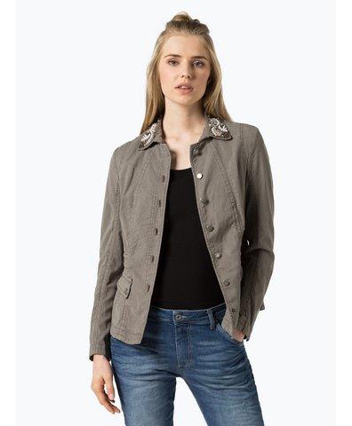 marc cain sports damen blazer mit leinen anteil blau hellblau uni online kaufen peek und. Black Bedroom Furniture Sets. Home Design Ideas