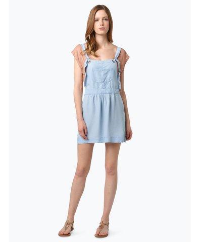 Damen Jeans-Latzkleid