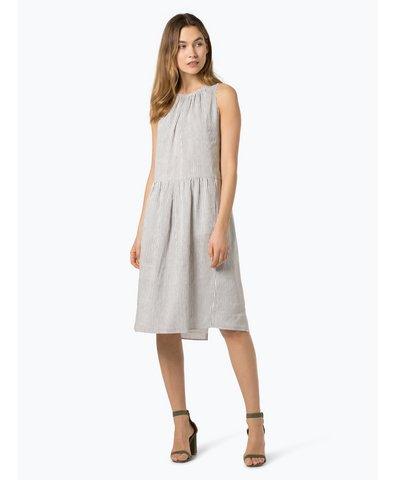 Damen Kleid aus Leinen-Seiden-Mix