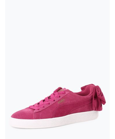 Damen Sneaker aus Leder - Suede Bow