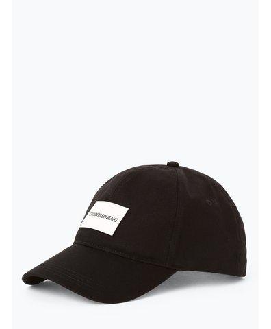 Damska czapka z daszkiem z dodatkiem skóry