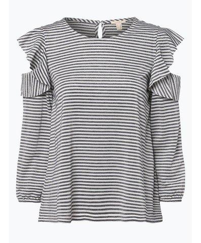 Damska koszulka z długim rękawem z dodatkiem lnu