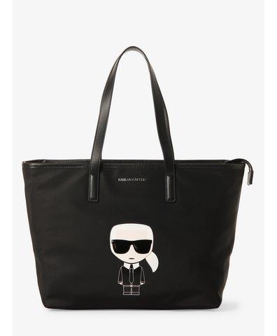 Damska torba shopper z dodatkiem skóry